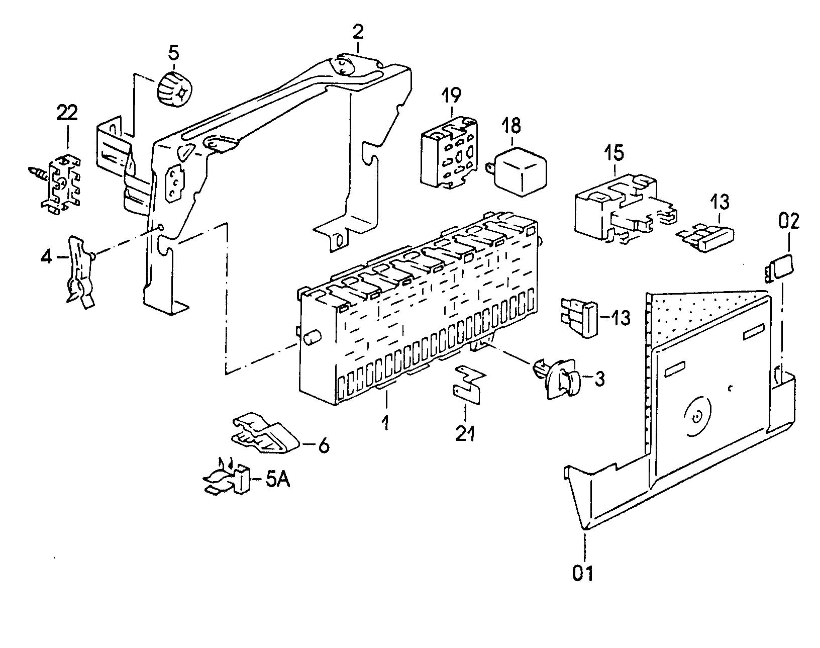 1982 vw rabbit pickup fuse box diagram