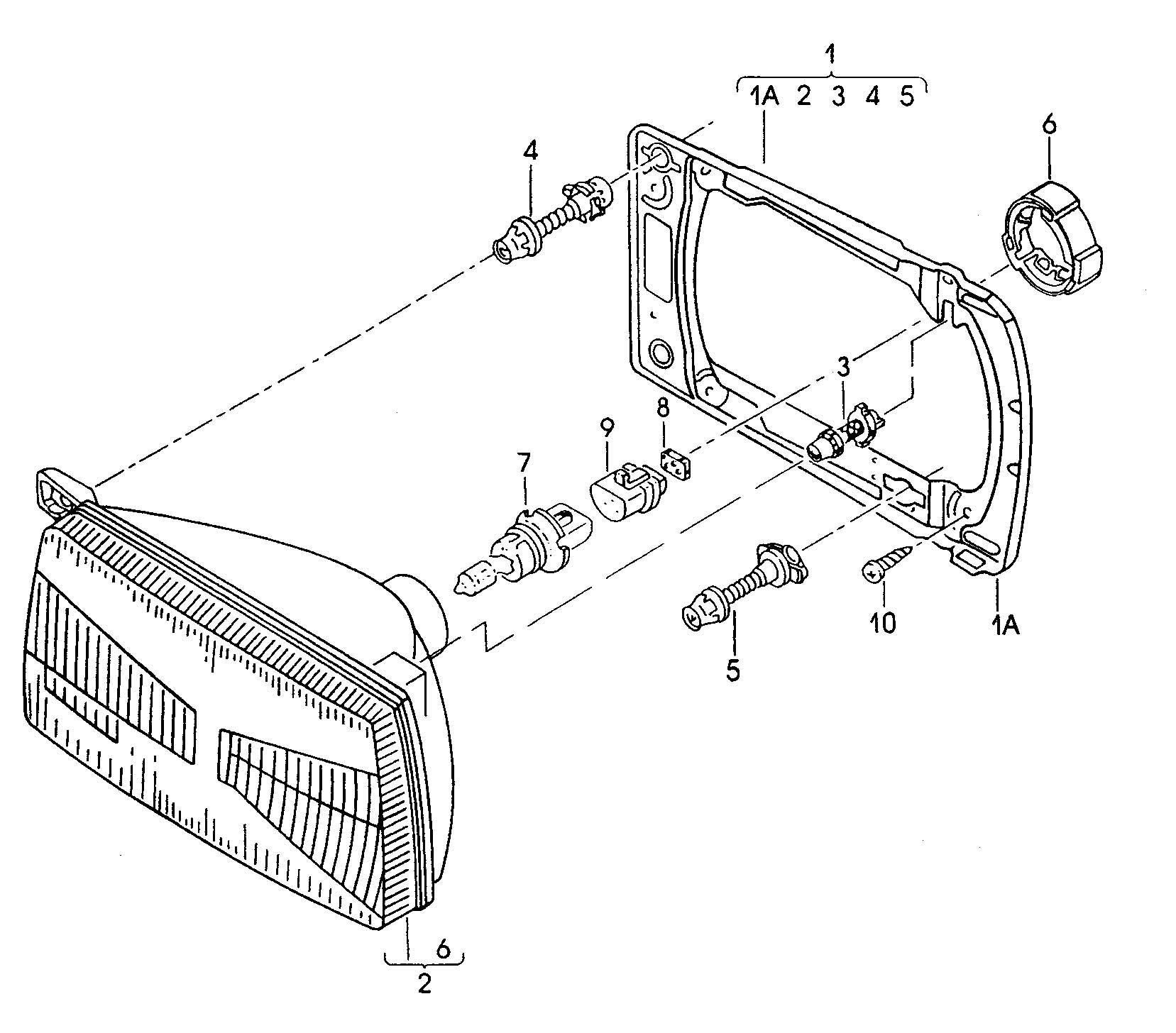 Volkswagen Golf With cable crosssection: flat contact 1