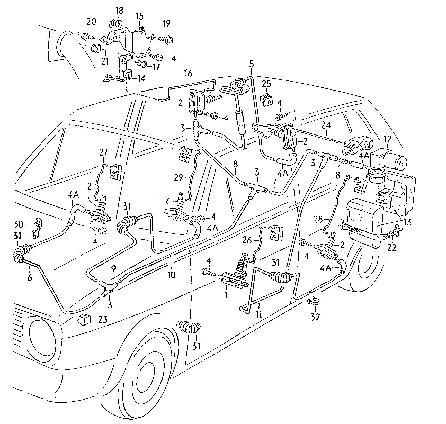 1986 Volkswagen Golf Central locking system