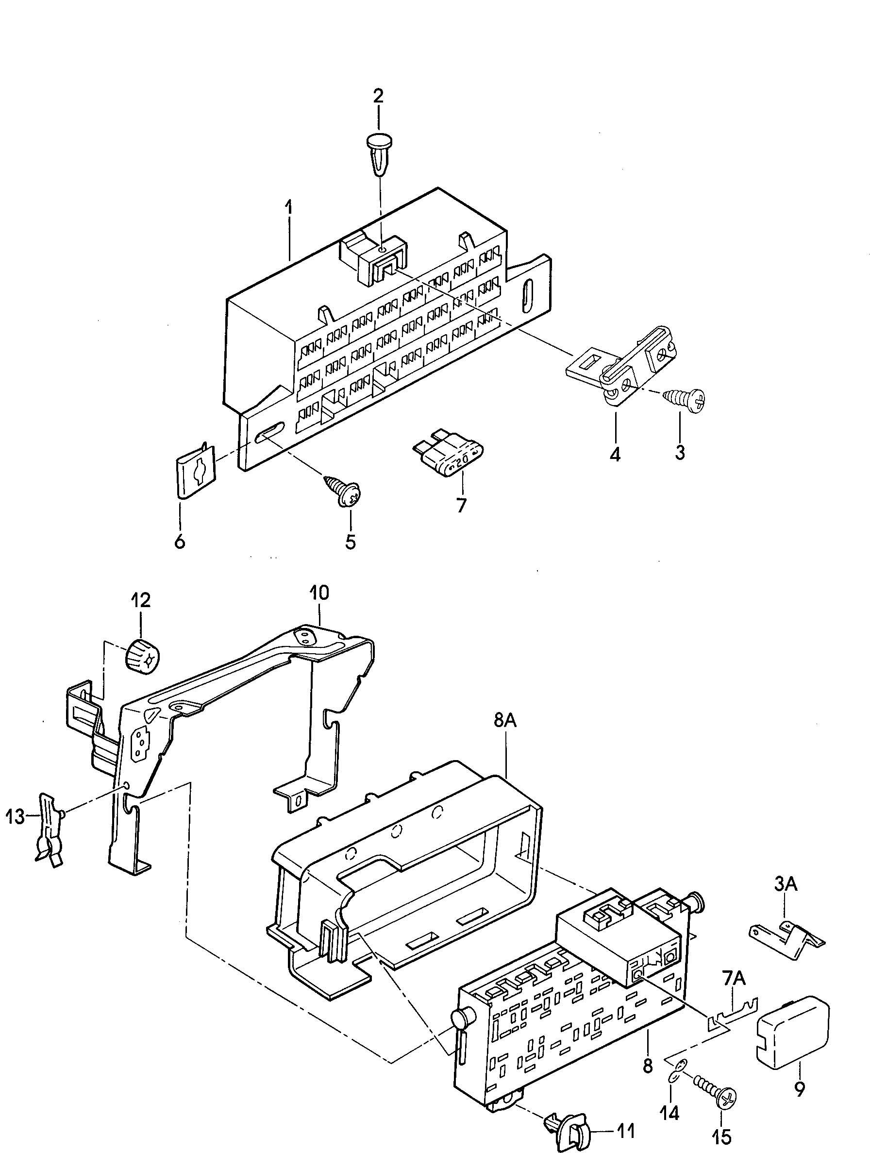 Relay box fuse box