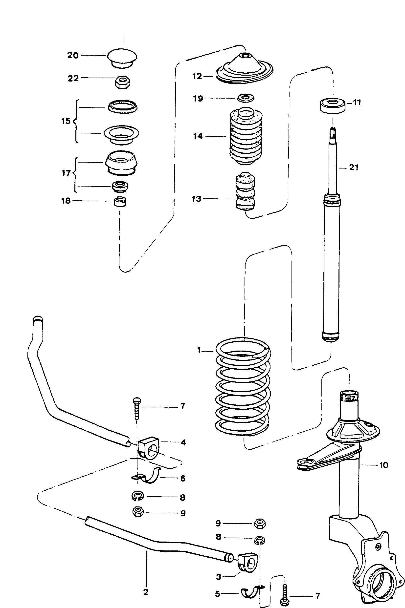 1991 Volkswagen Fox Suspension front