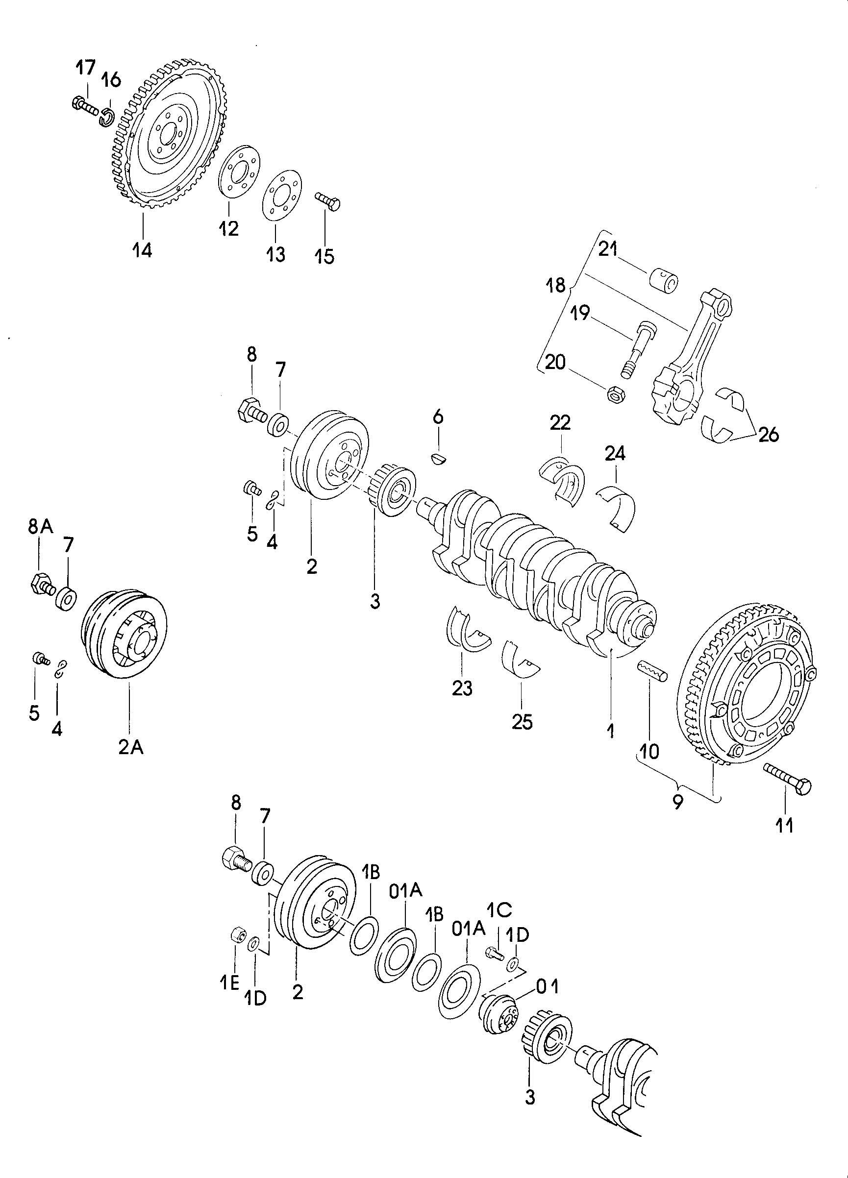 1981 Volkswagen Rabbit Mounting parts for refrigerant