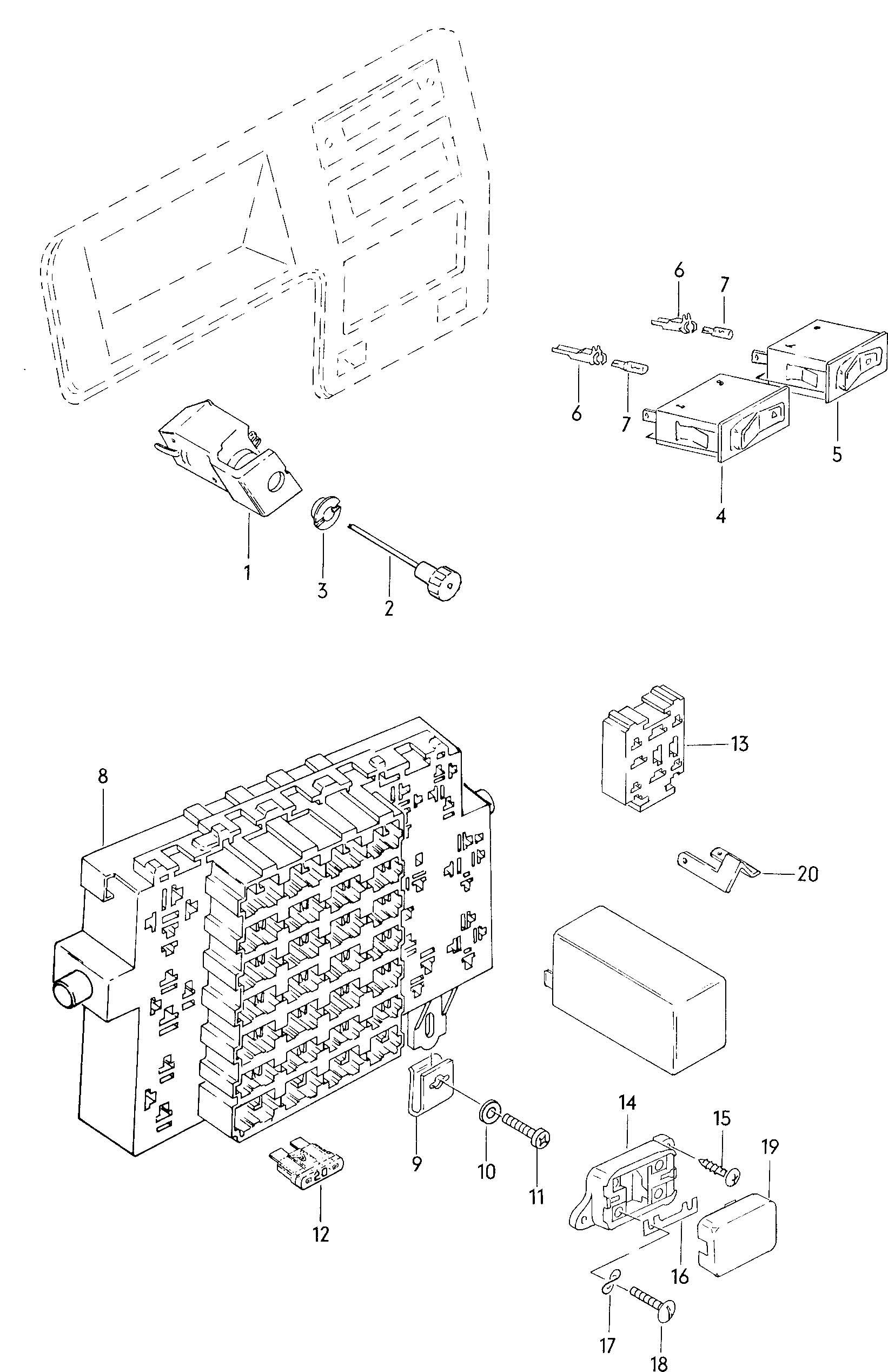 1981 Volkswagen Rabbit Fuse Box. Volkswagen. Auto Wiring