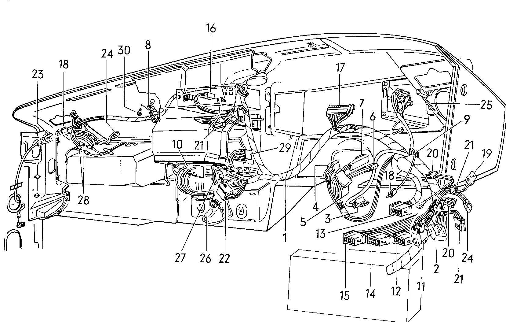 1982 Volkswagen Rabbit Dashboard harness