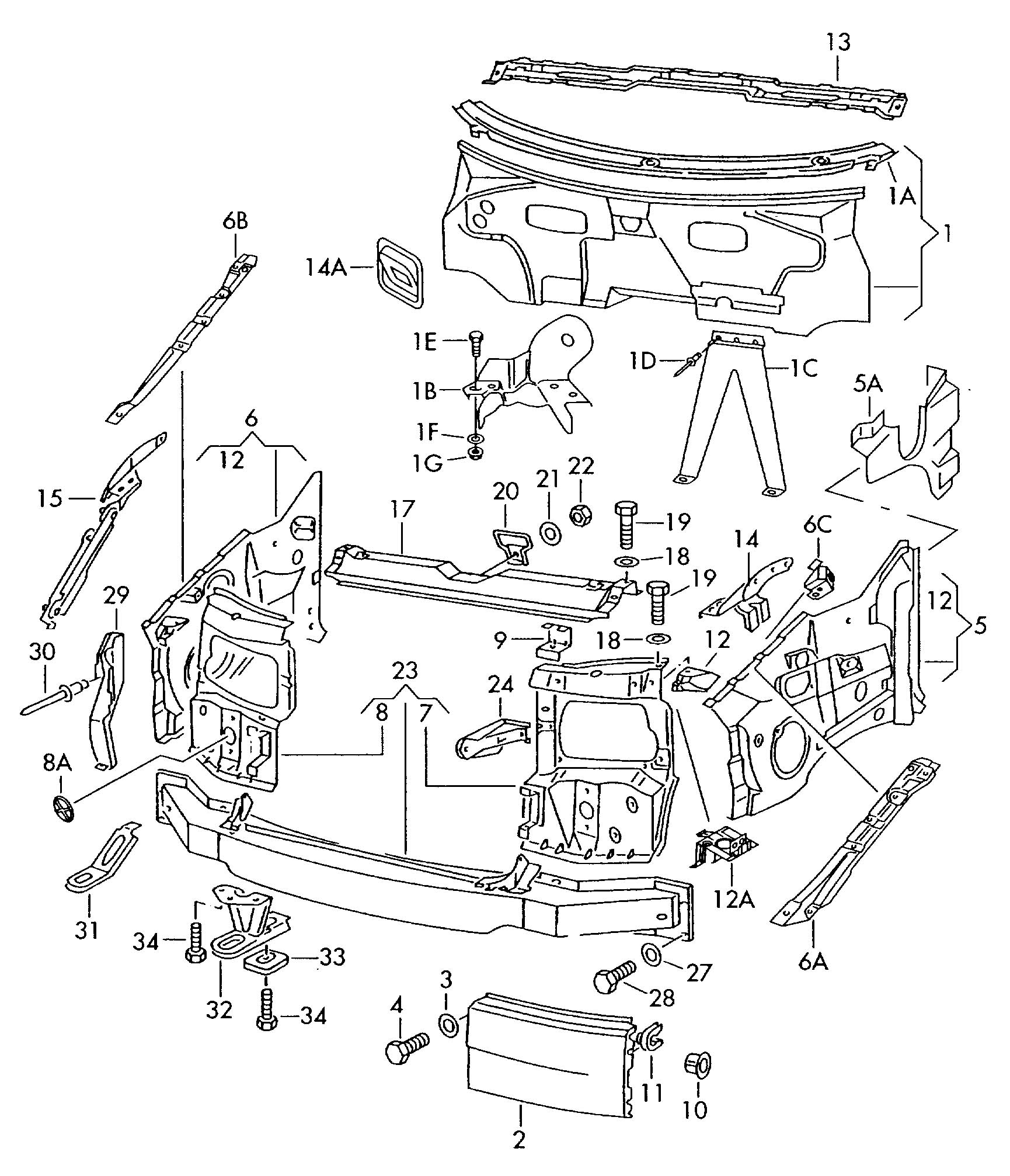 Volkswagen Eurovan Body Front Section Dash Panel