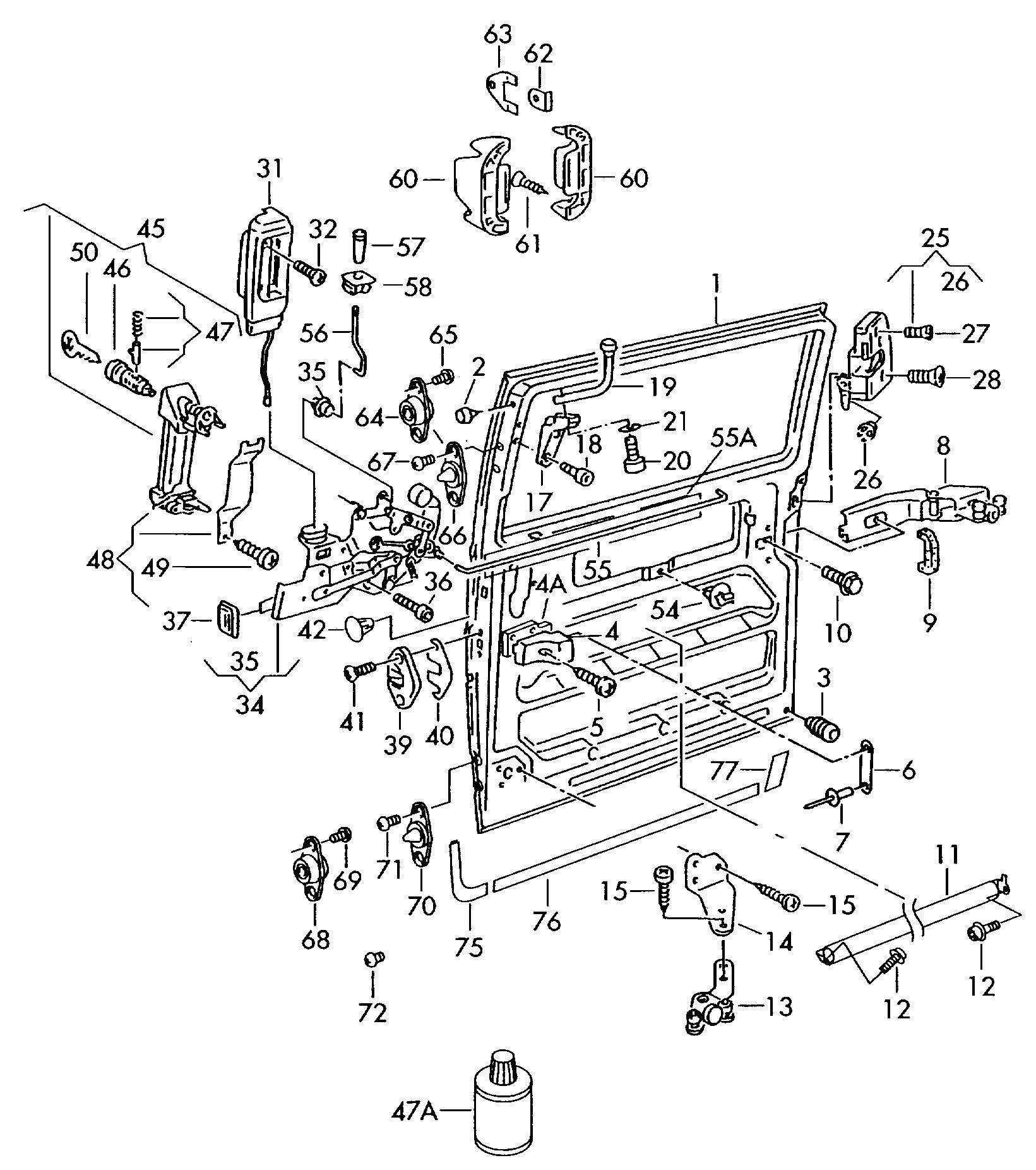 Sliding Door Parts: Eurovan Sliding Door Parts