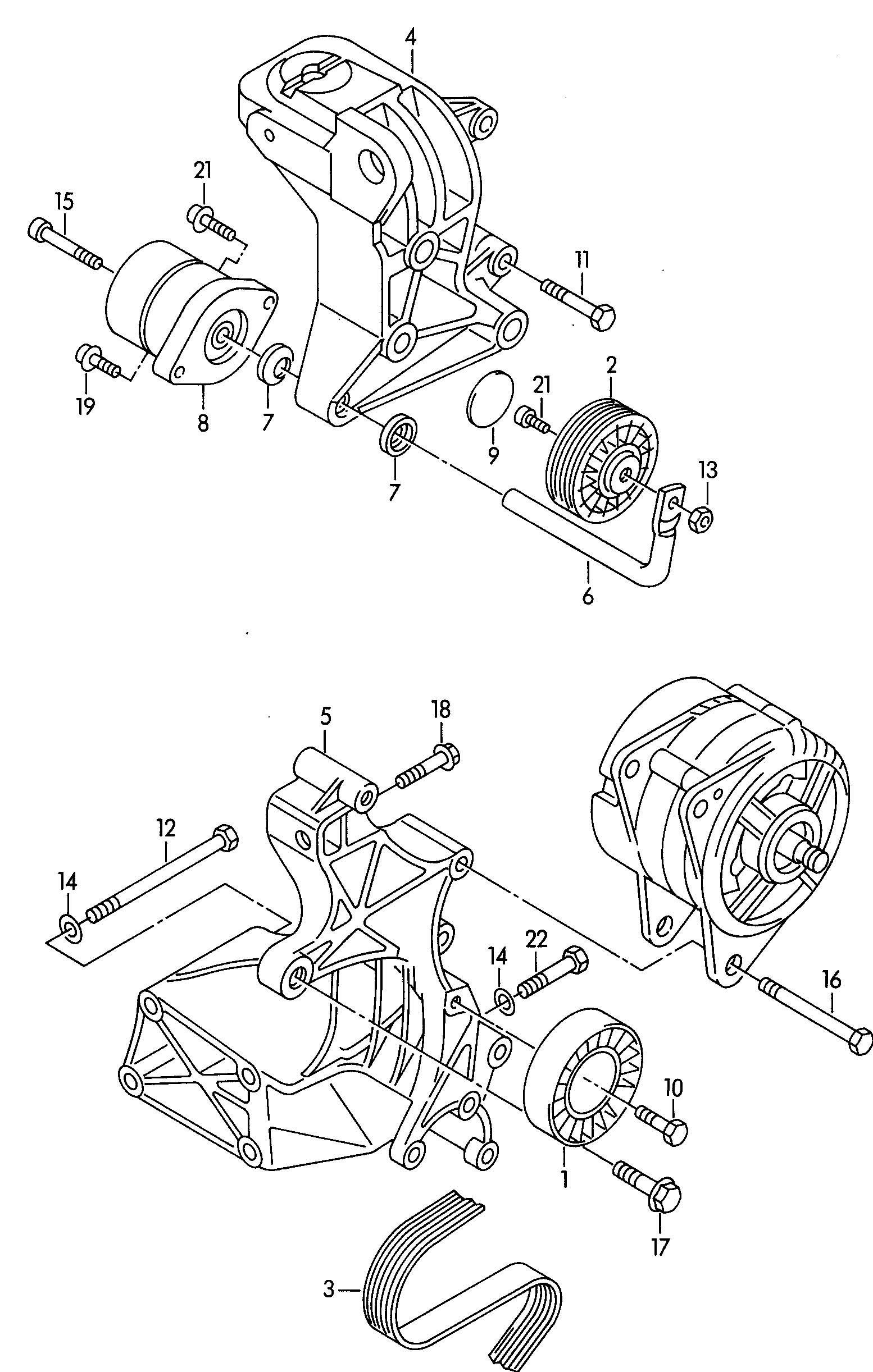 Volkswagen Eurovan Bracket For Alternator Alternator
