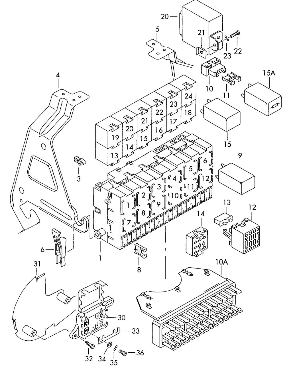 medium resolution of  wrg 1835 volkswagen eurovan fuse box