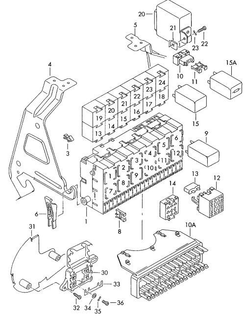 small resolution of  wrg 1835 volkswagen eurovan fuse box