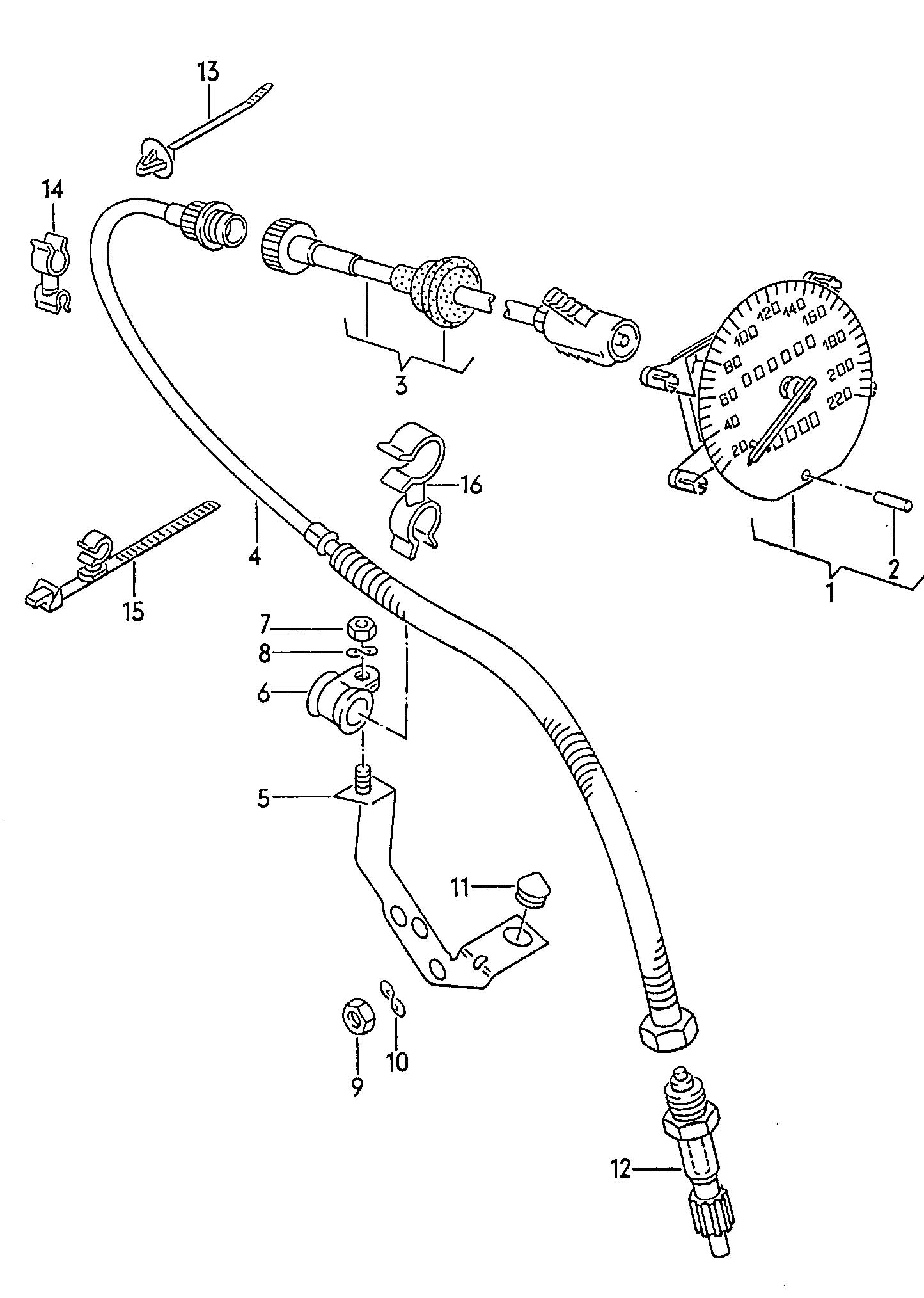 Volkswagen Eurovan Pinion Speedometer Speedometer Pinion