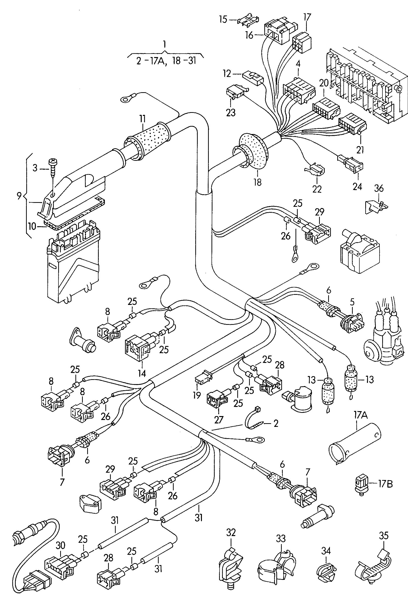 Volkswagen EuroVan Single wire seal for wire cross section