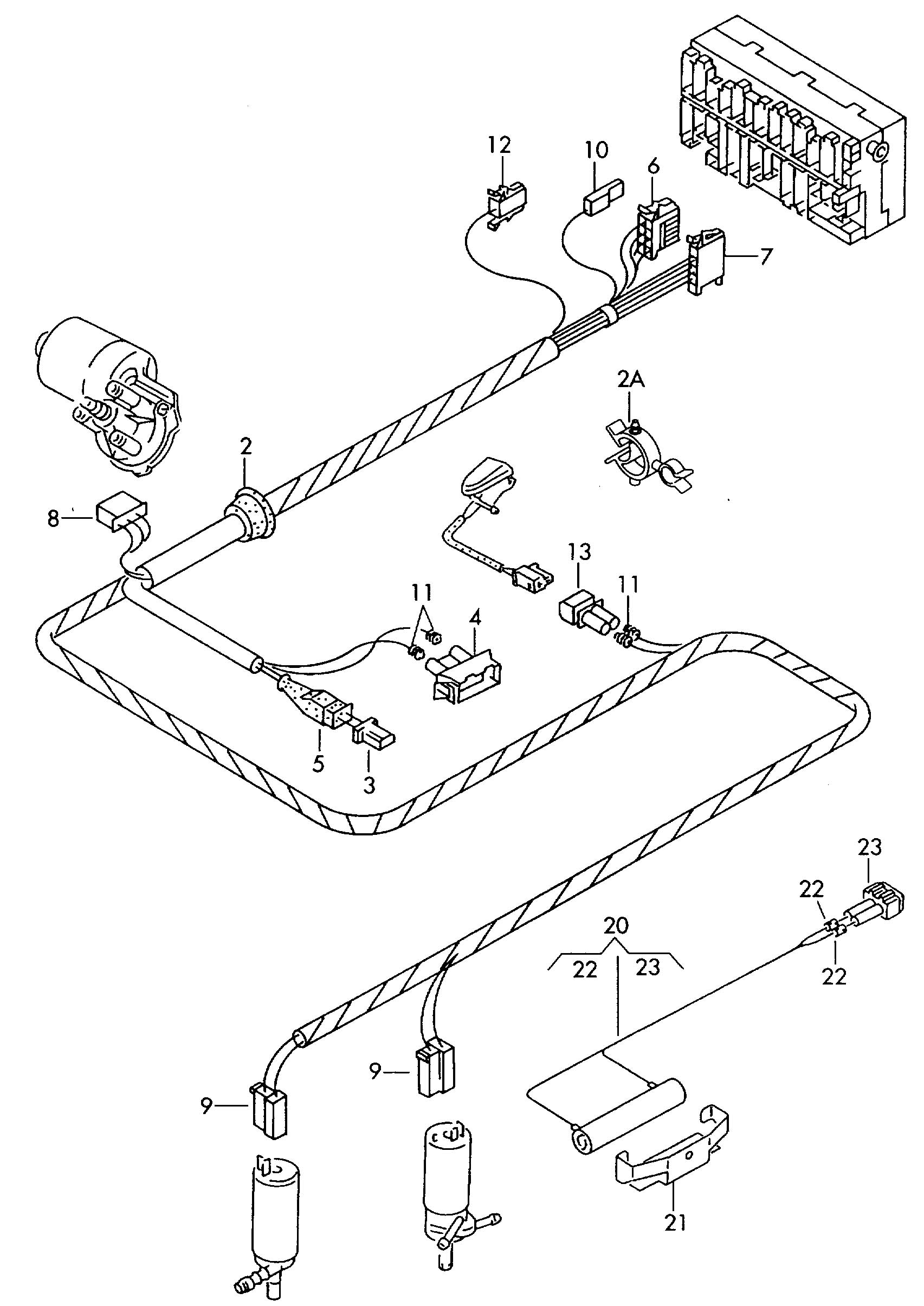 Vw Eurovan Door Wiring Harness VW Engine Wiring Wiring