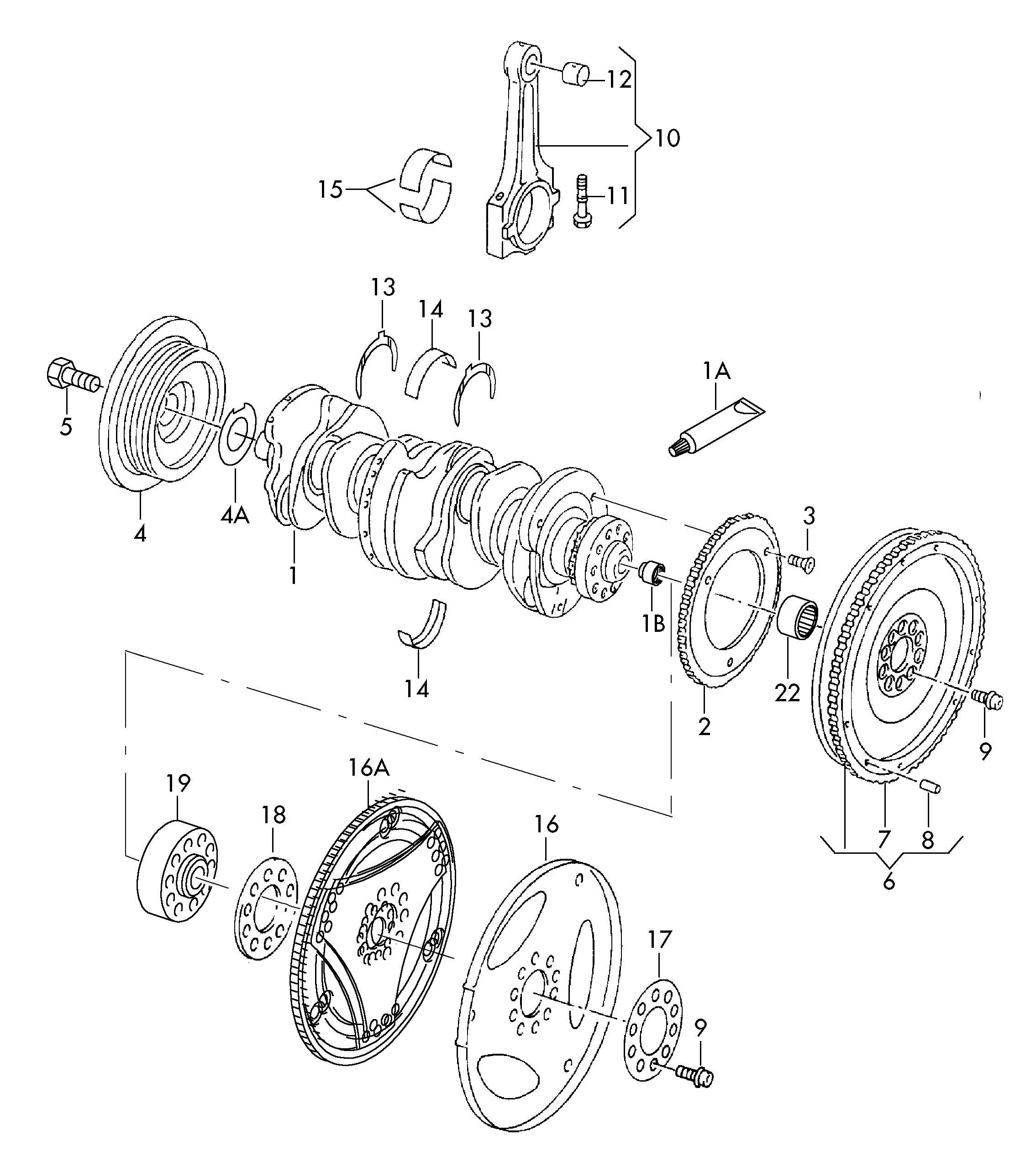 Volkswagen Jetta Variant Vibration damper. AFP, Flywheel