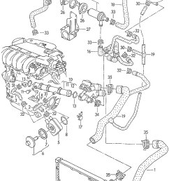 new engine coolant pipe vw corrado jetta 92 02 021 vw engine coolant parts diagram [ 1640 x 2566 Pixel ]