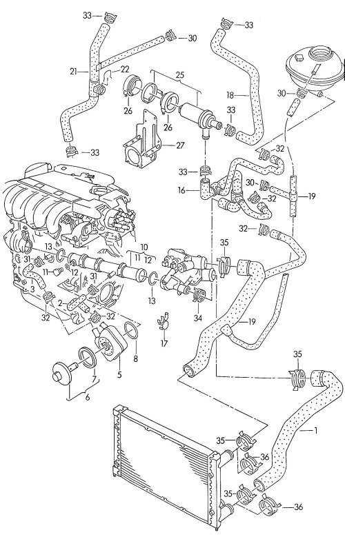 small resolution of new engine coolant pipe vw corrado jetta 92 02 021 vw engine coolant parts diagram