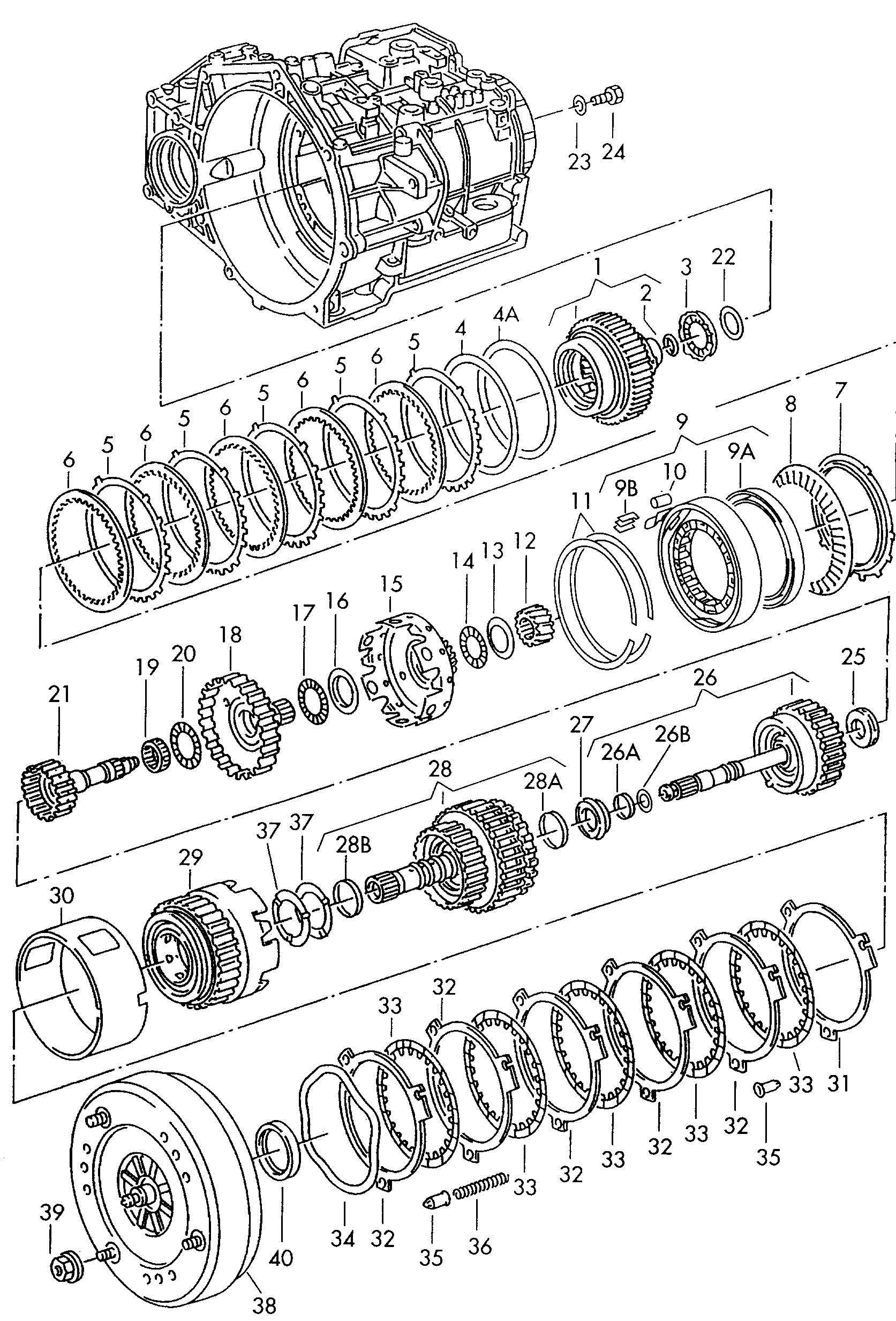 Volkswagen Cabrio Cabriolet Torque Converter Code Letter