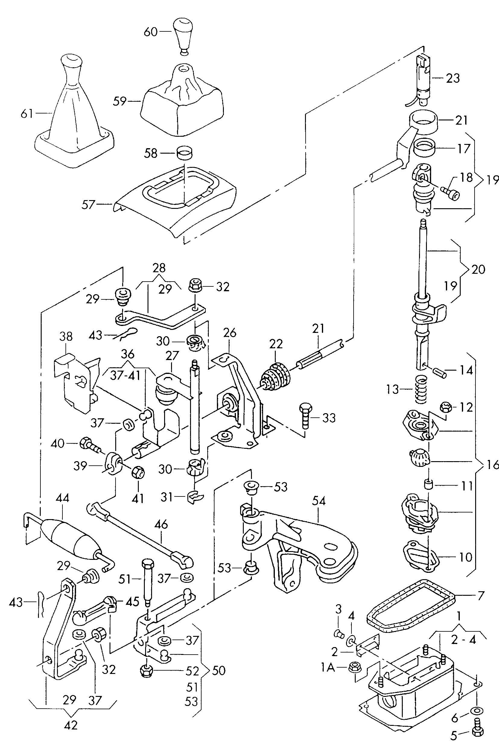 Shift mechanism 1.8-2.0ltr. 2.0ltr. 1.8ltr. 1.9ltr. 2.0ltr