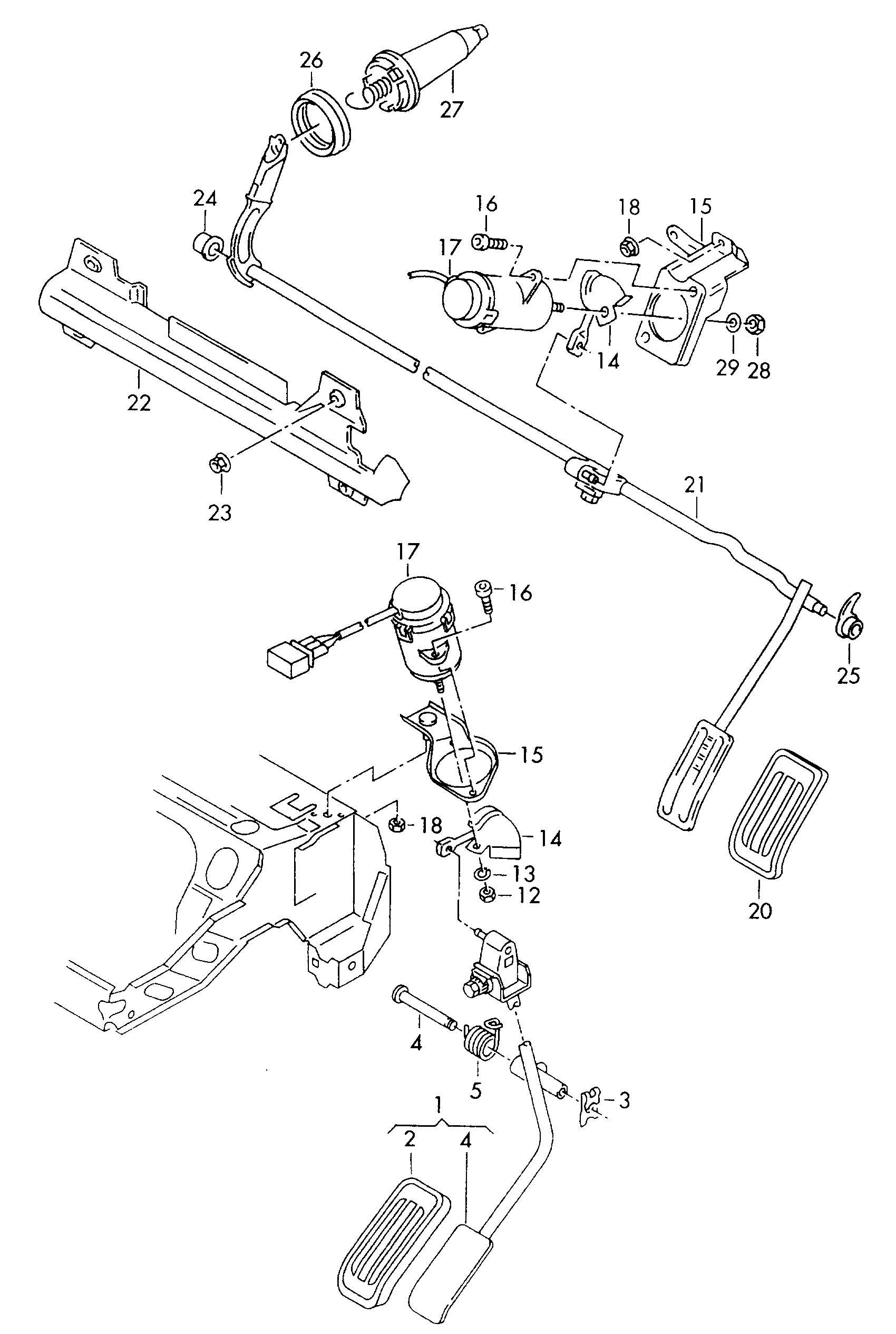 Volkswagen Golf Accelerator Pedal