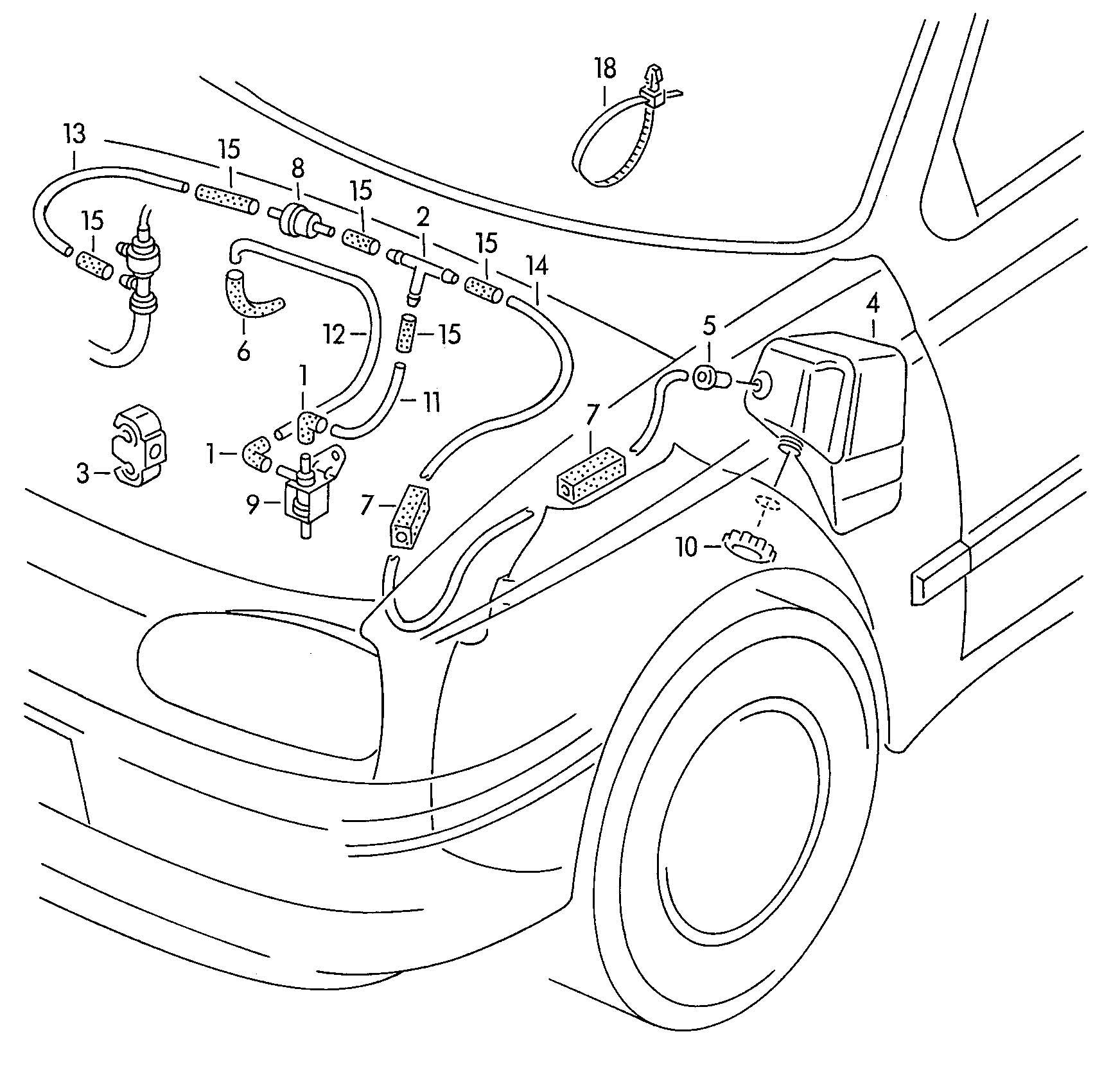 1999 Volkswagen Cabrio/Cabriolet 2.0L Solenoid valve. AAZ