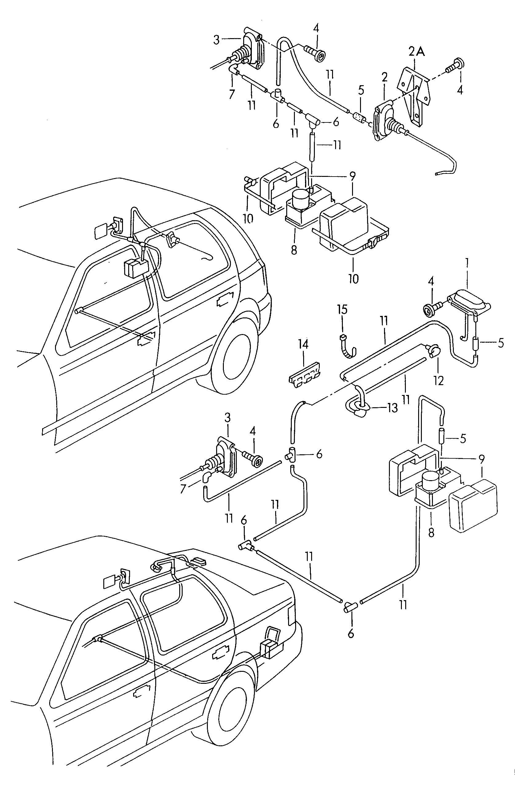 Volkswagen Cabrio Cabriolet Central Locking System For