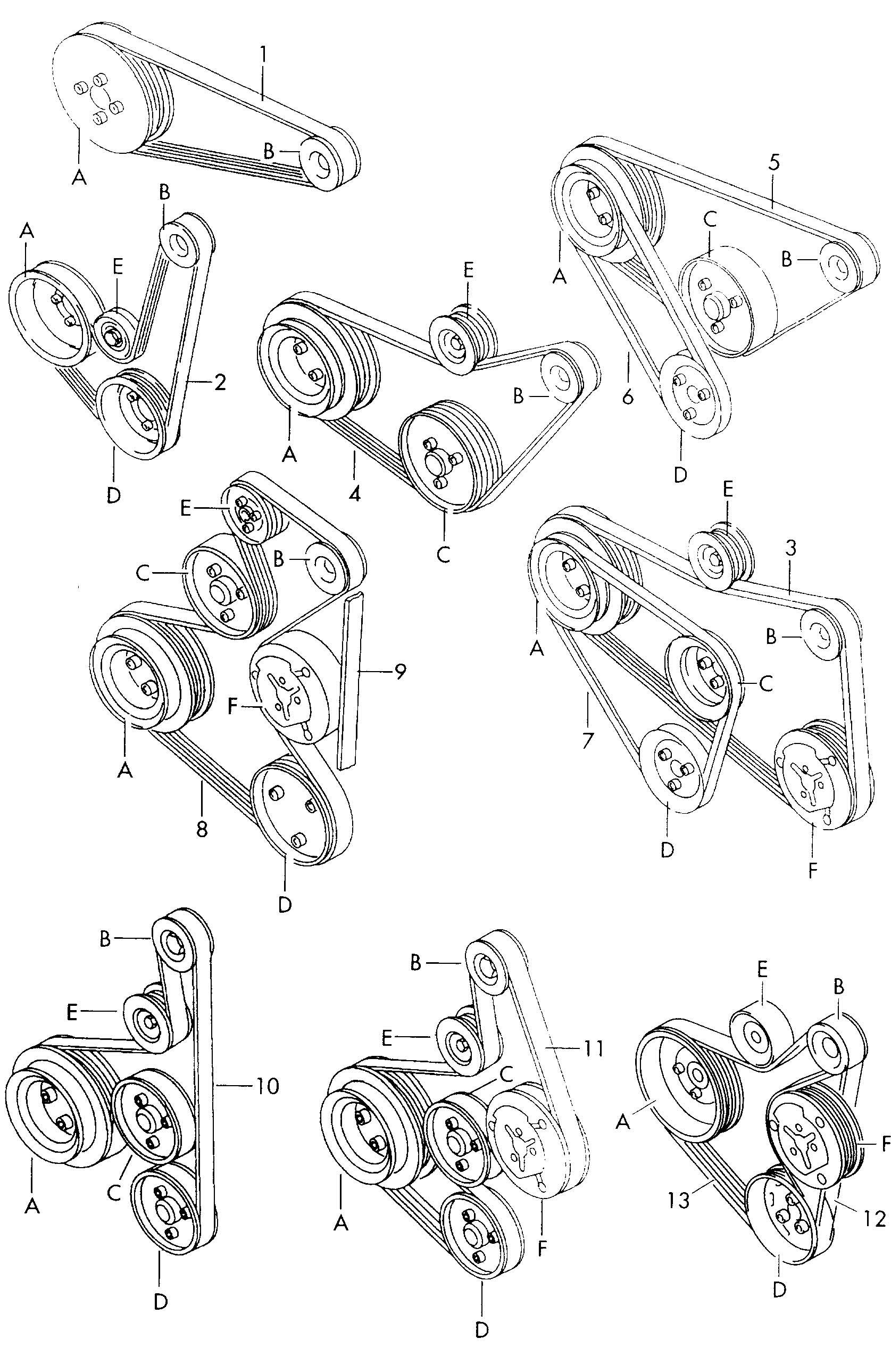 Volkswagen Golf V Belt Vbelt List Aaz