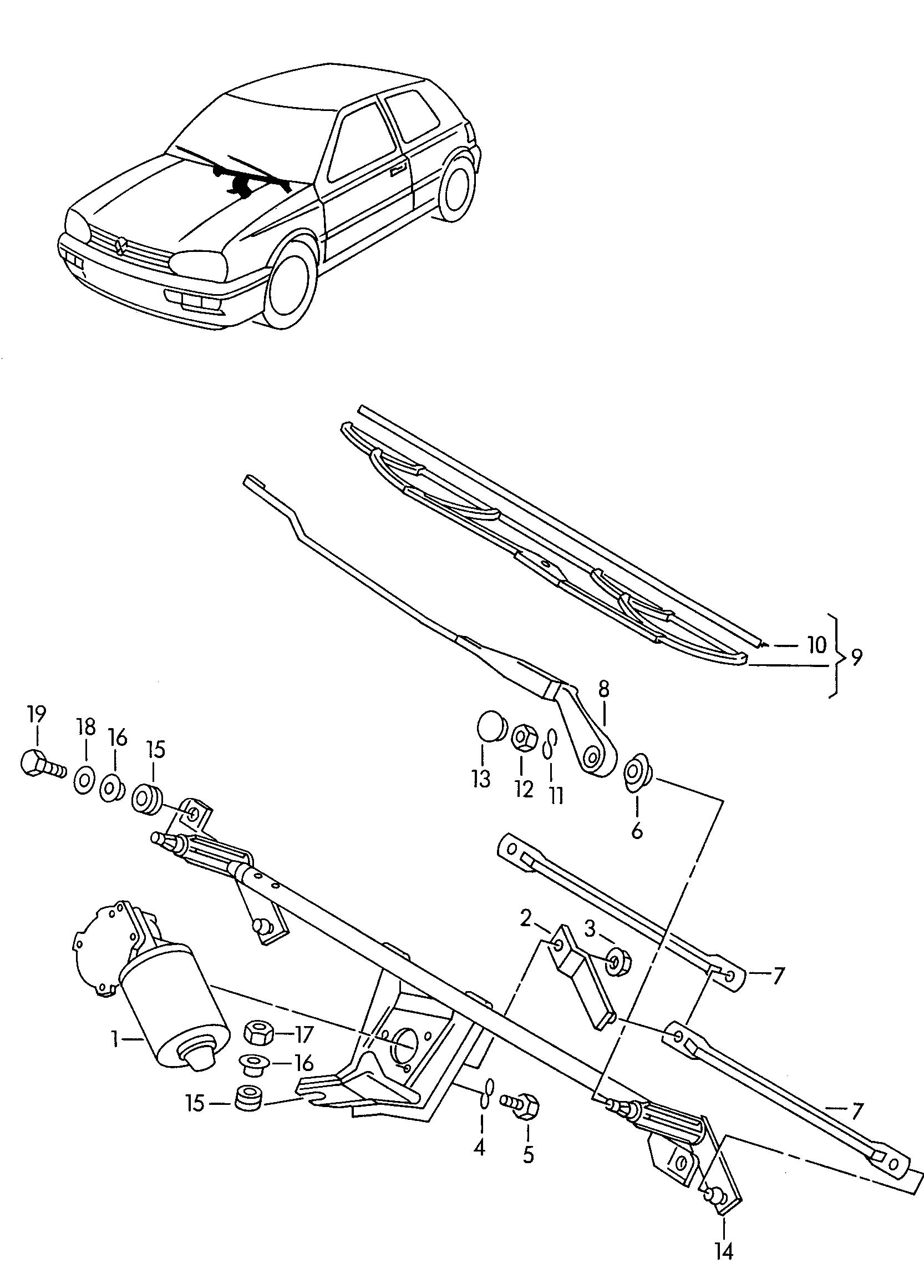 Service manual [How To Replace A 1998 Volkswagen Rio Wiper