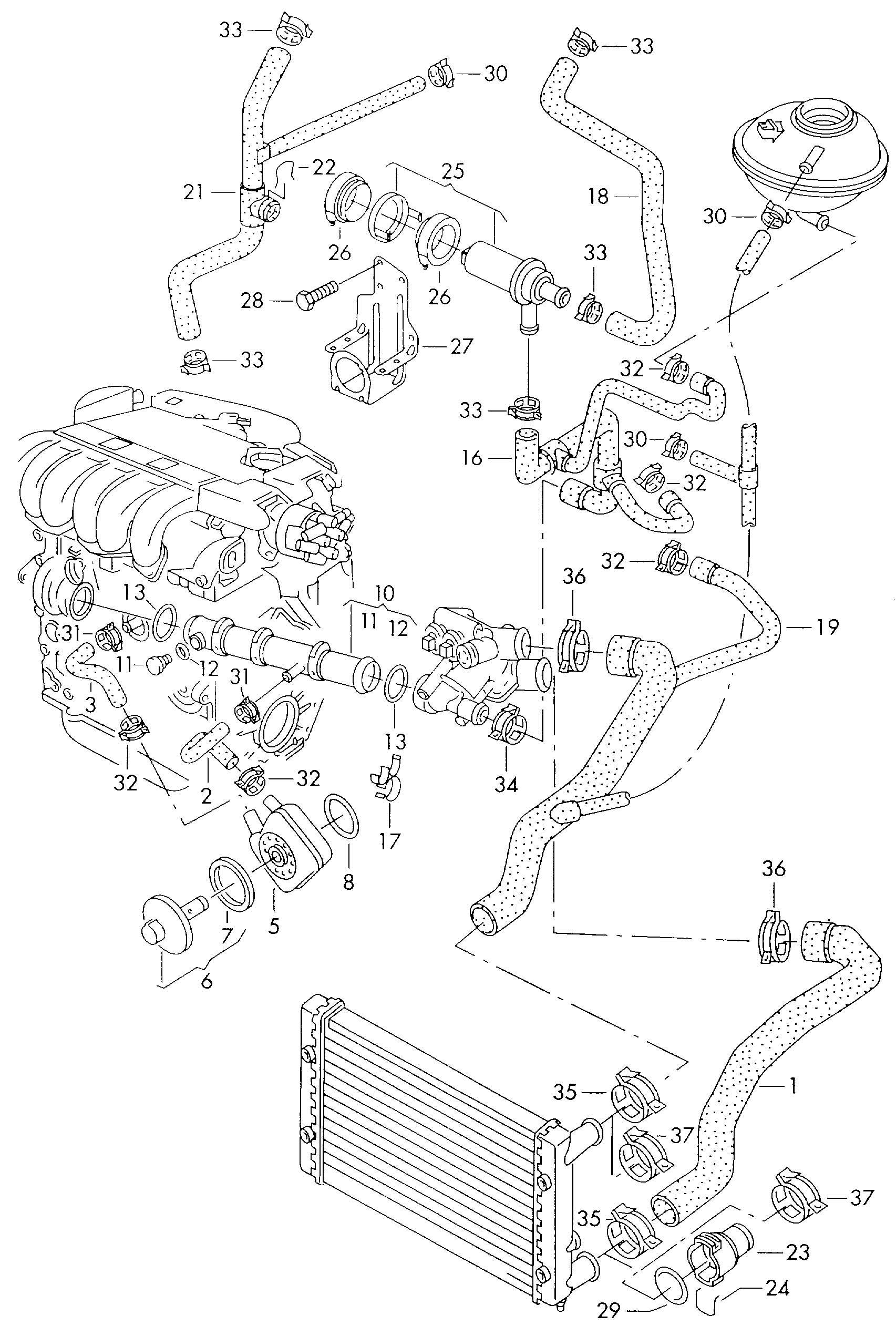 Volkswagen Passat Reservoir Gt Throttle Valve Water