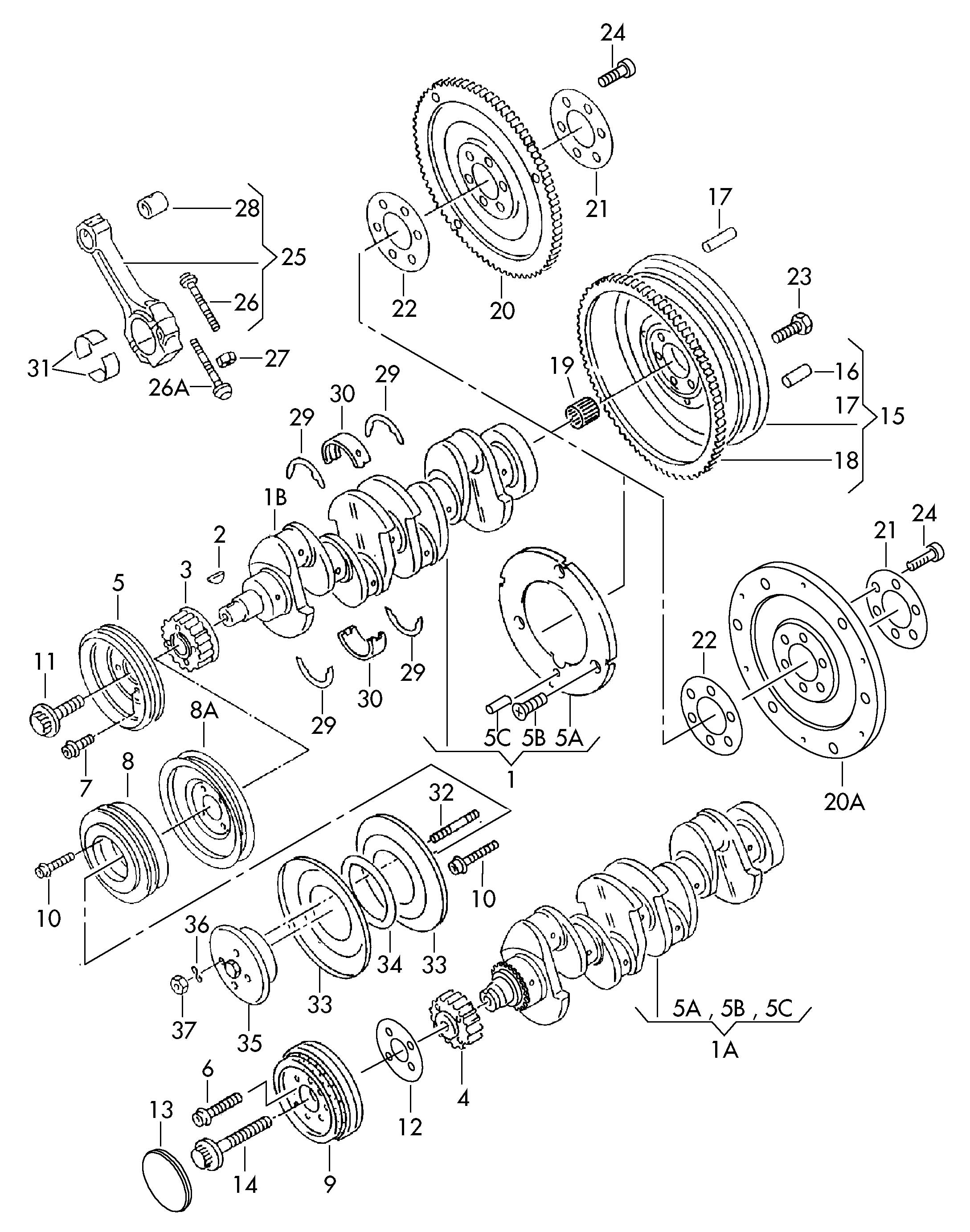 2002 Volkswagen Engine Piston Wrist Pin Bushing. Engine