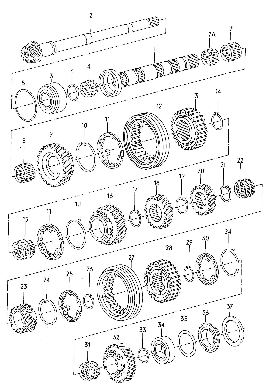 Volkswagen Passat syncro Synchronizer ring. SYNCRO RING