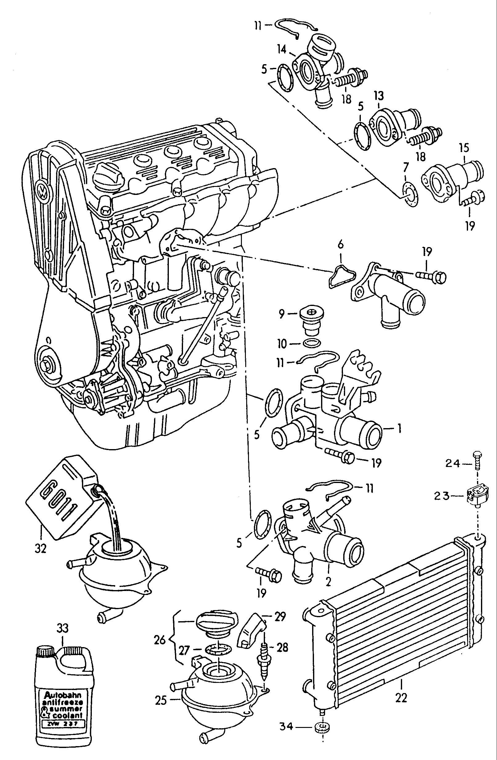 Volkswagen Jetta 2 5l 5 Cylinder Only For Thermal Switch