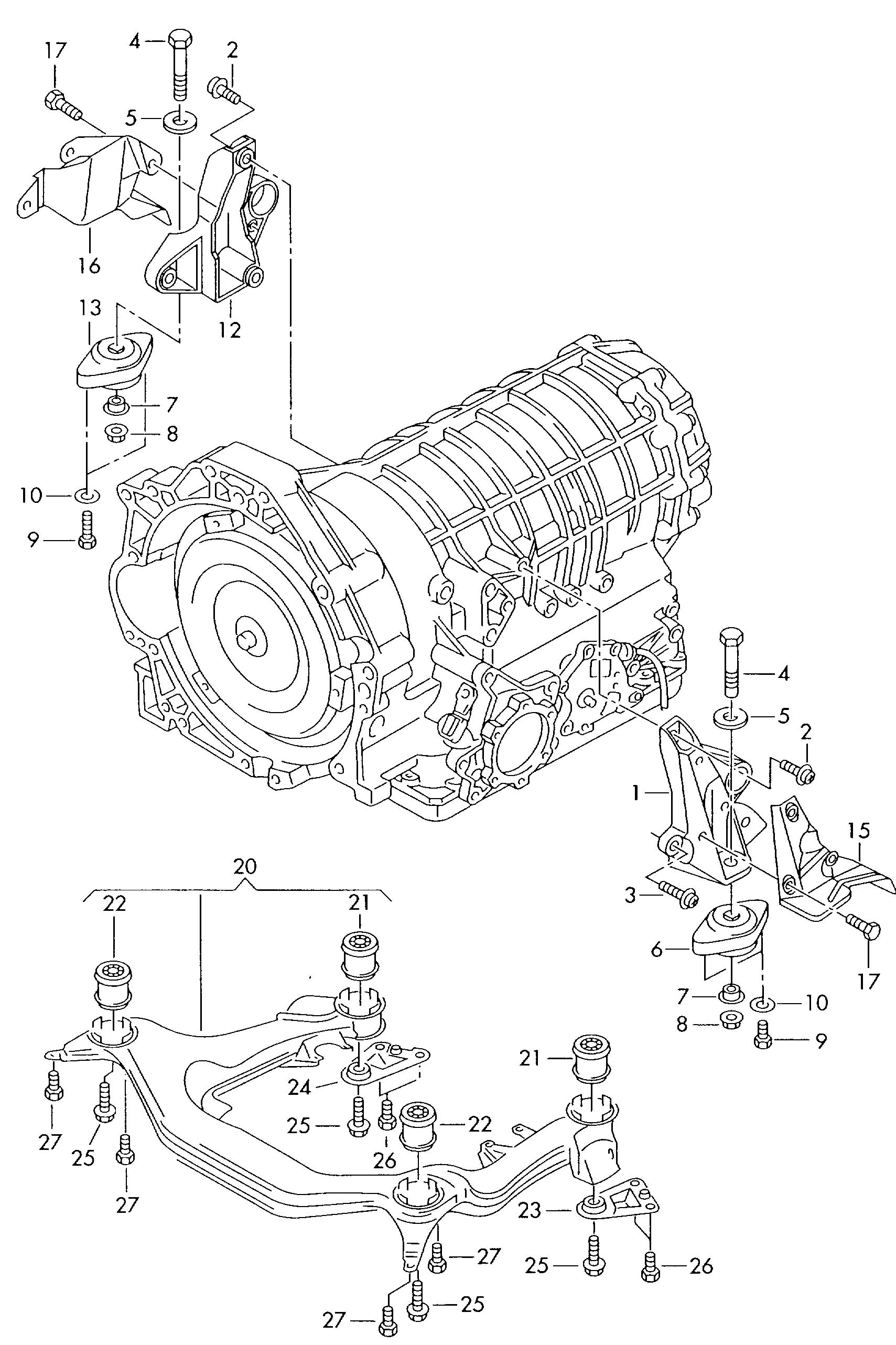 Parts Mercedes Diagram Transmission 722 1 Automatic