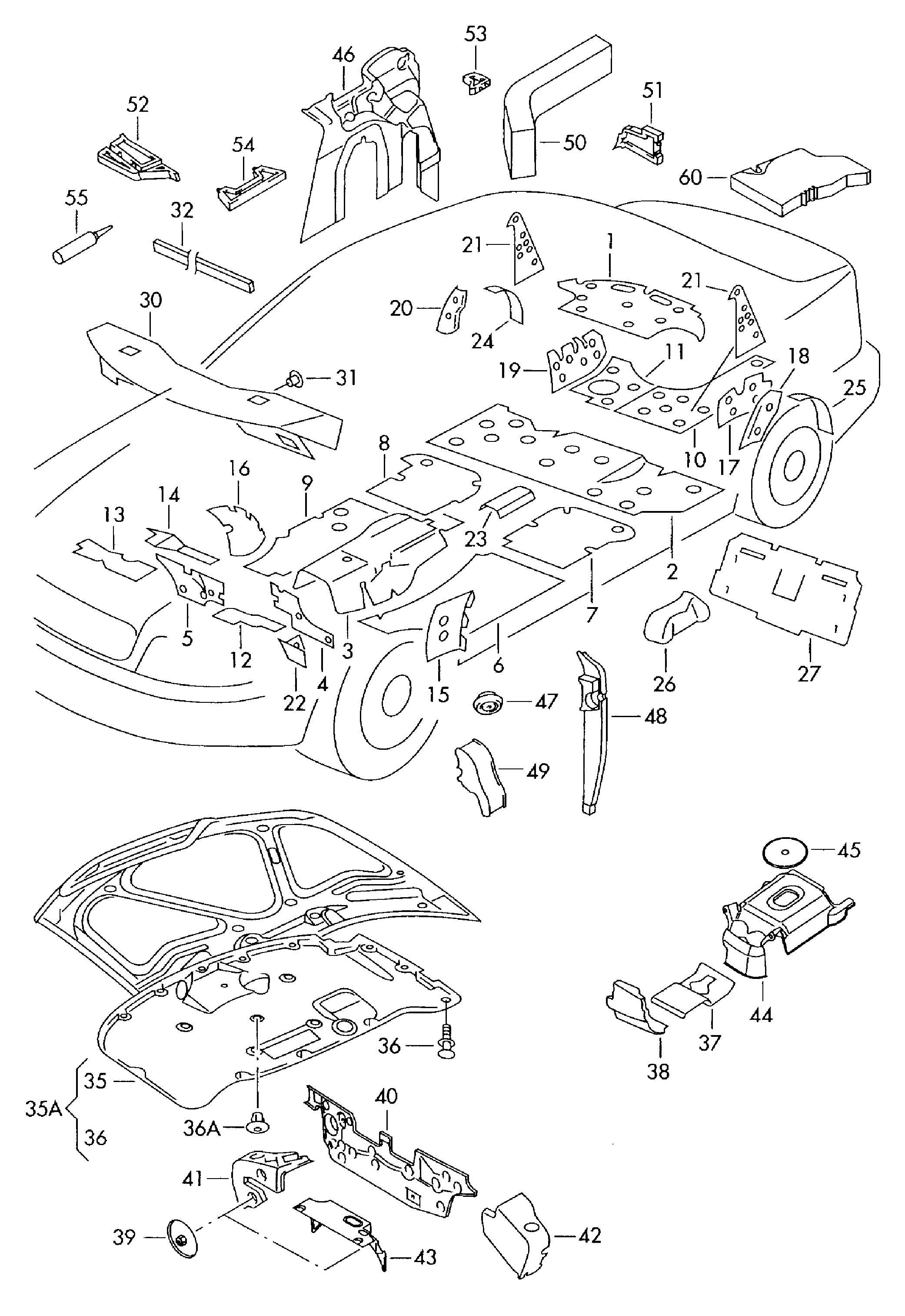 Volkswagen Passat Sealing Cord Adhesives And Sealing