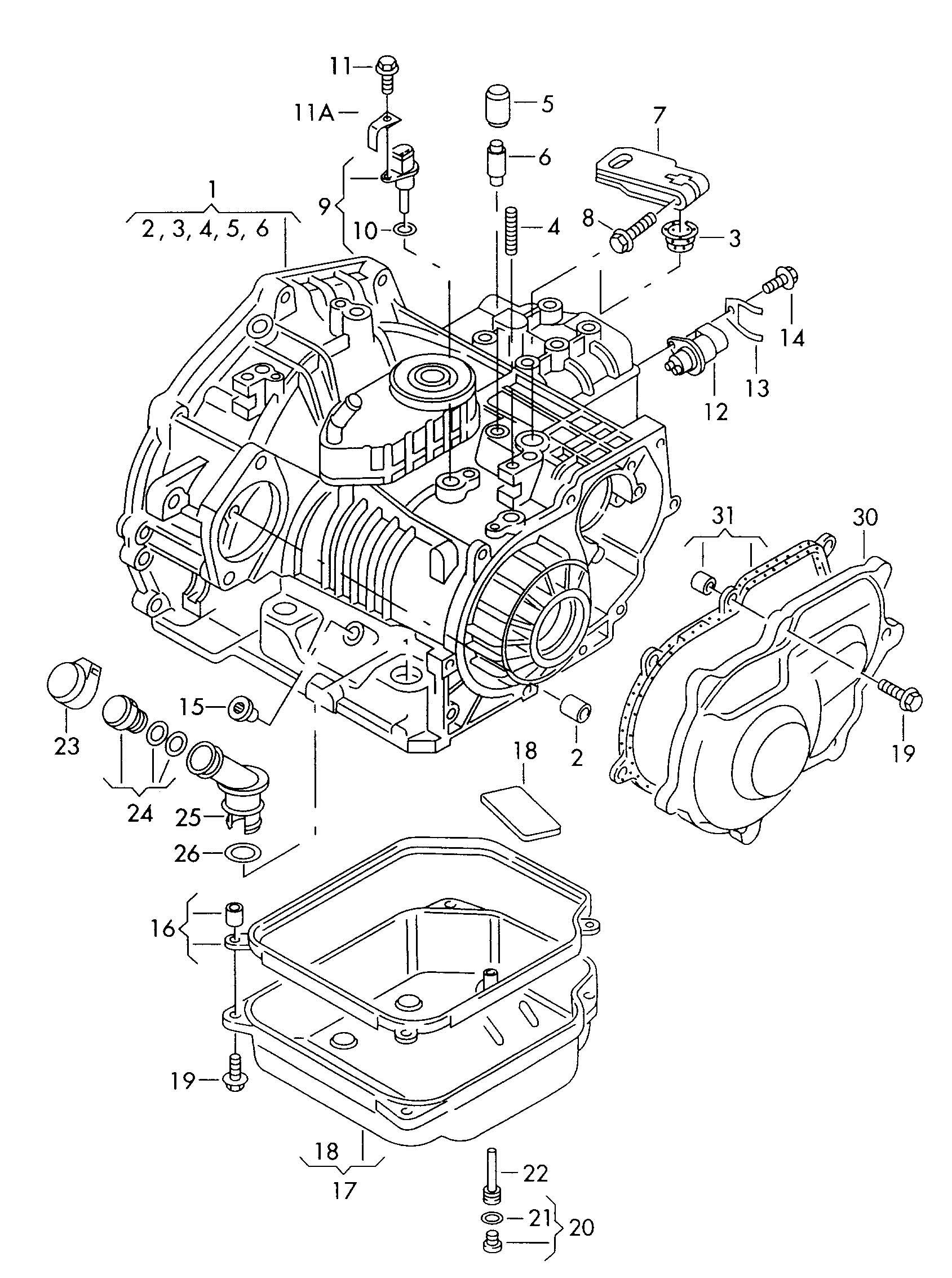 Volkswagen Cabrio/Cabriolet 2.0L Oil pan. OIL SUMP