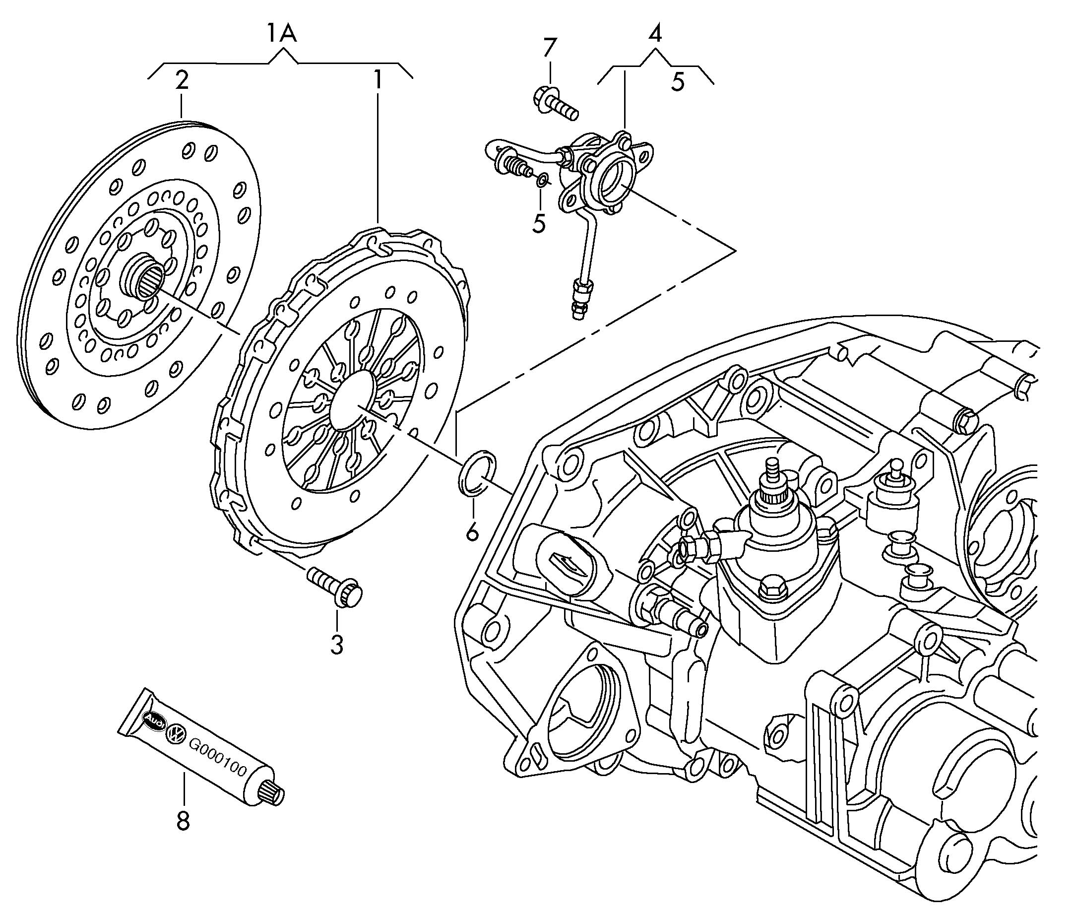 2003 Volkswagen With hydraulic operation release bearing
