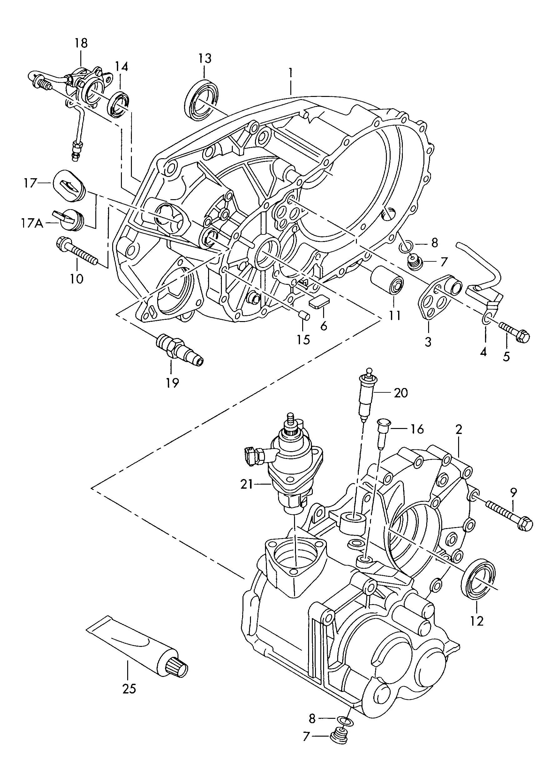 Volkswagen EuroVan Valve unit pressure hose. ILLUSTRATION