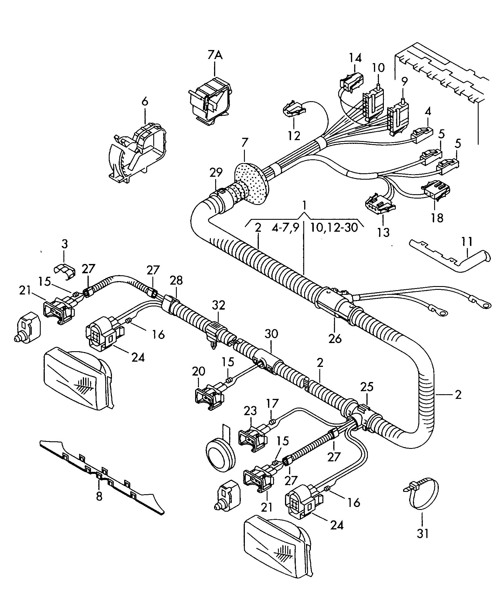 vw touareg wiring diagram 2002 mustang gt fuse headlight harness tail light