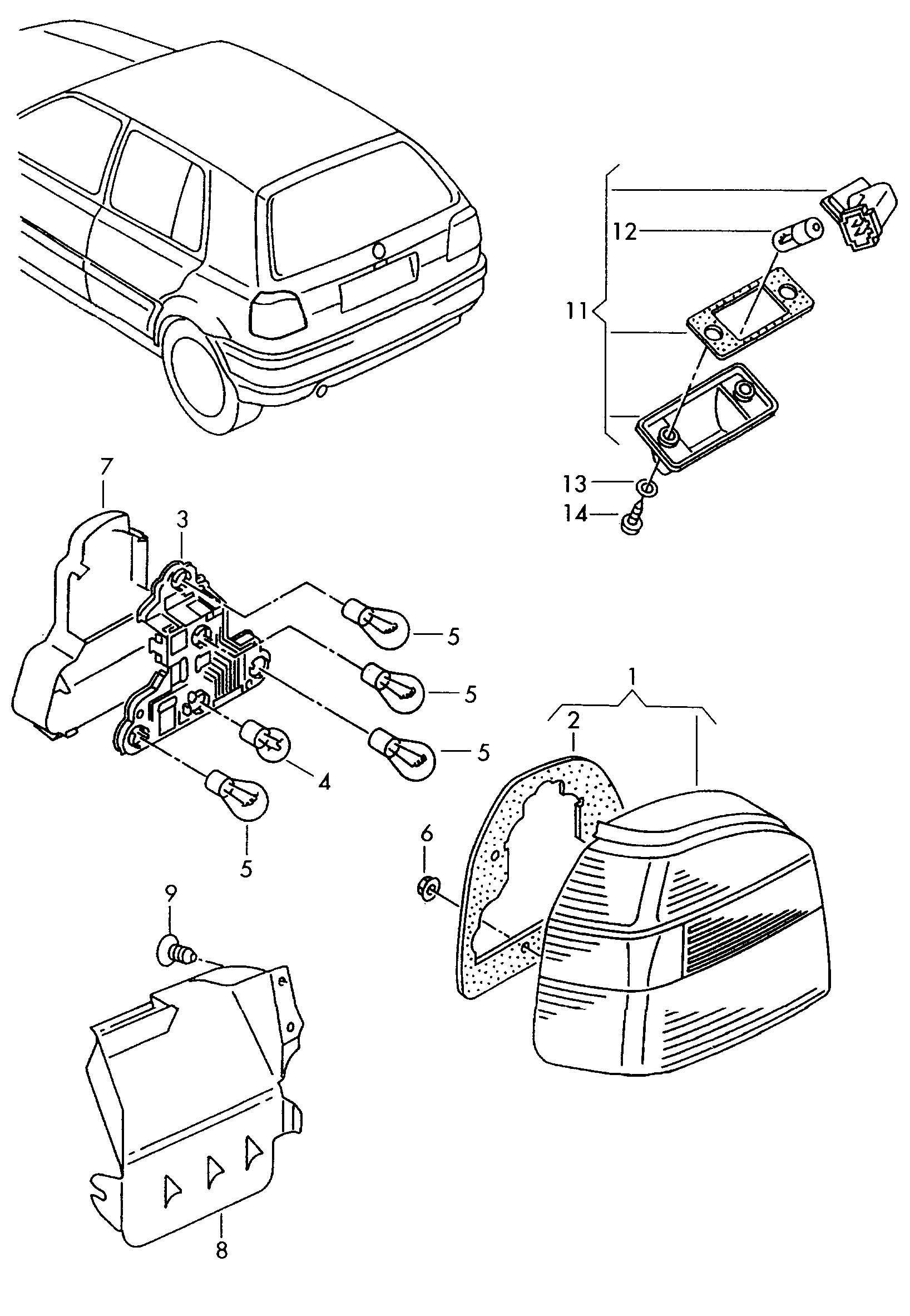 1996 Volkswagen Golf Bulb holder. RETAINER FOR BULB SOCKET
