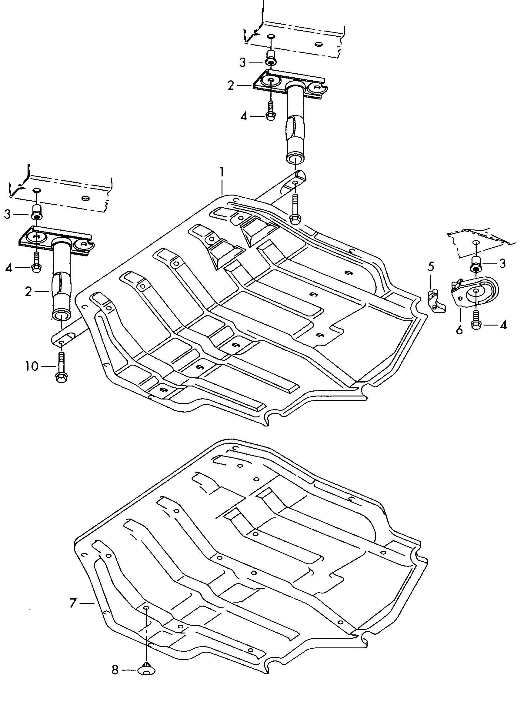 Volkswagen Golf 6 Mt 2 0l Skid Plate Under Body Protection