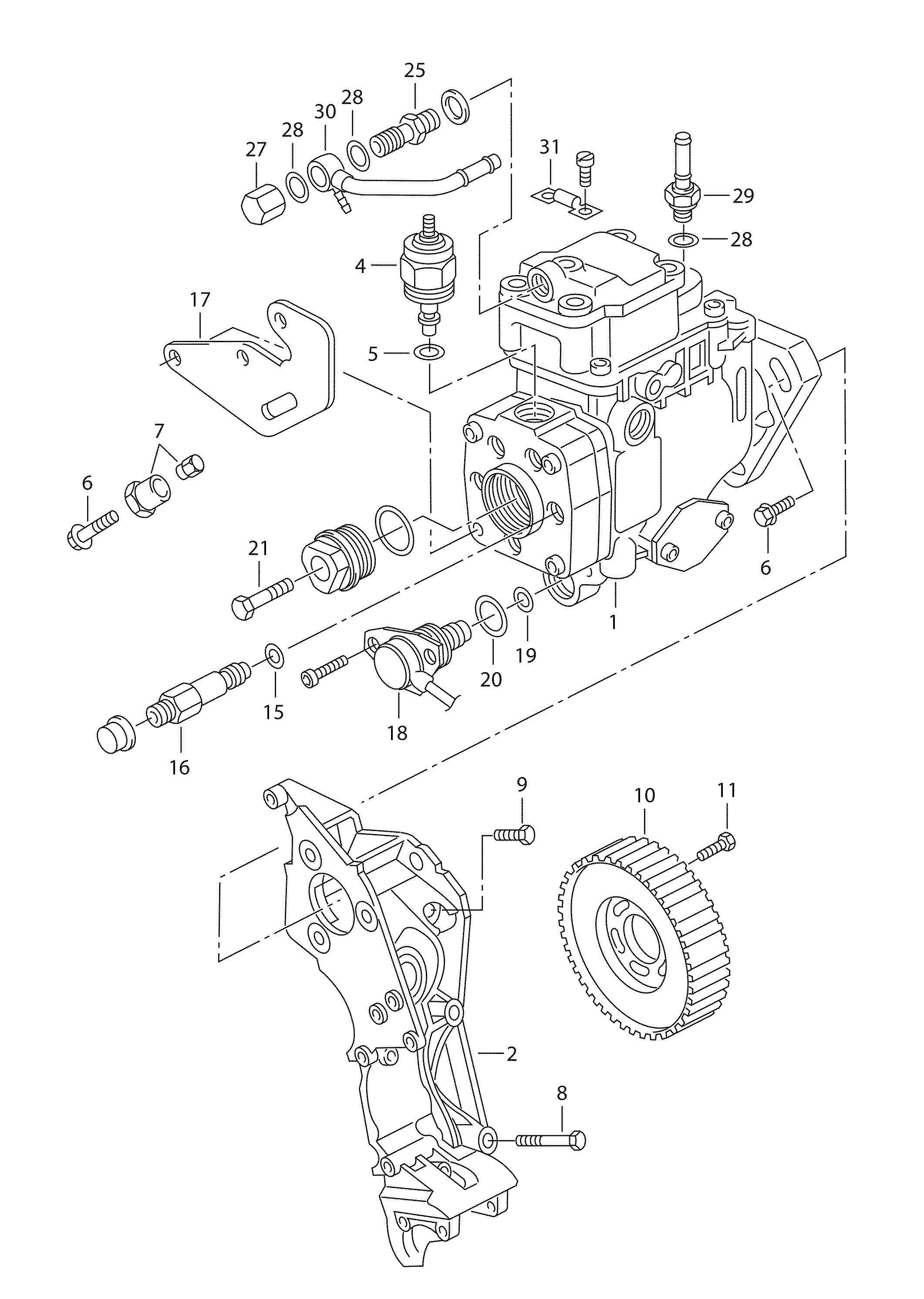 Volkswagen Jetta 2 8l 6 Cylinder Injection Pump Also