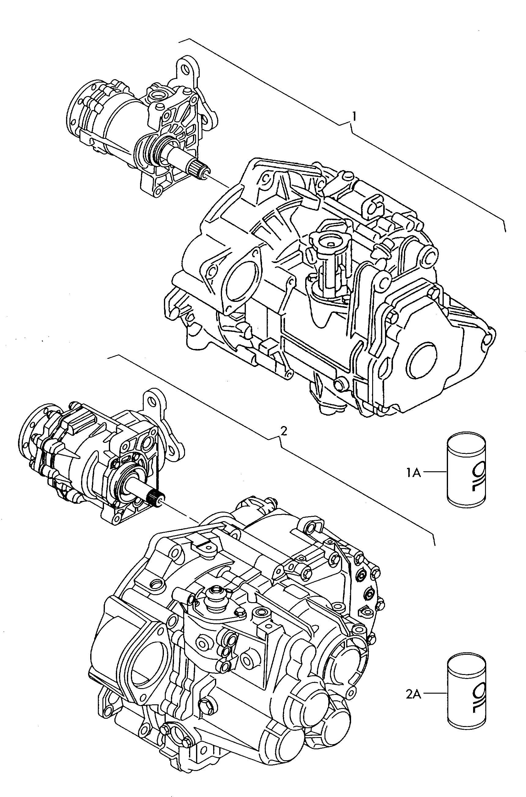Volkswagen Golf 6 speed manual transmission for 4 wheel drive