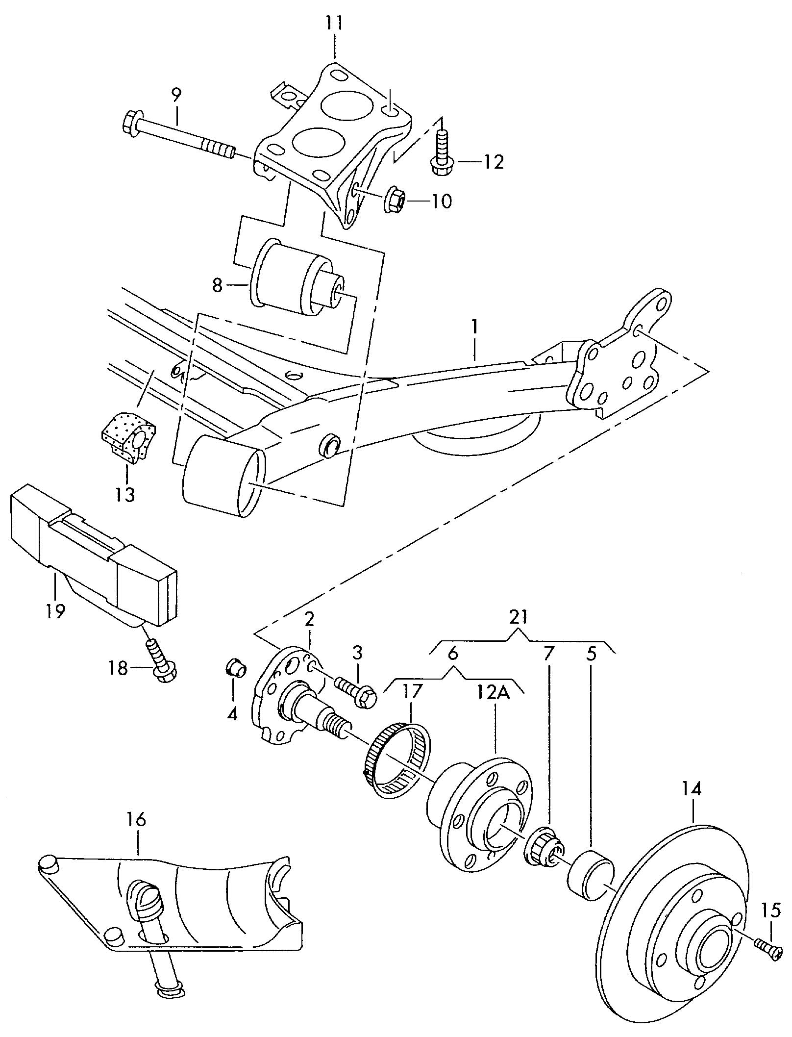 Volkswagen Jetta Comprising: wheel bearing with mounting