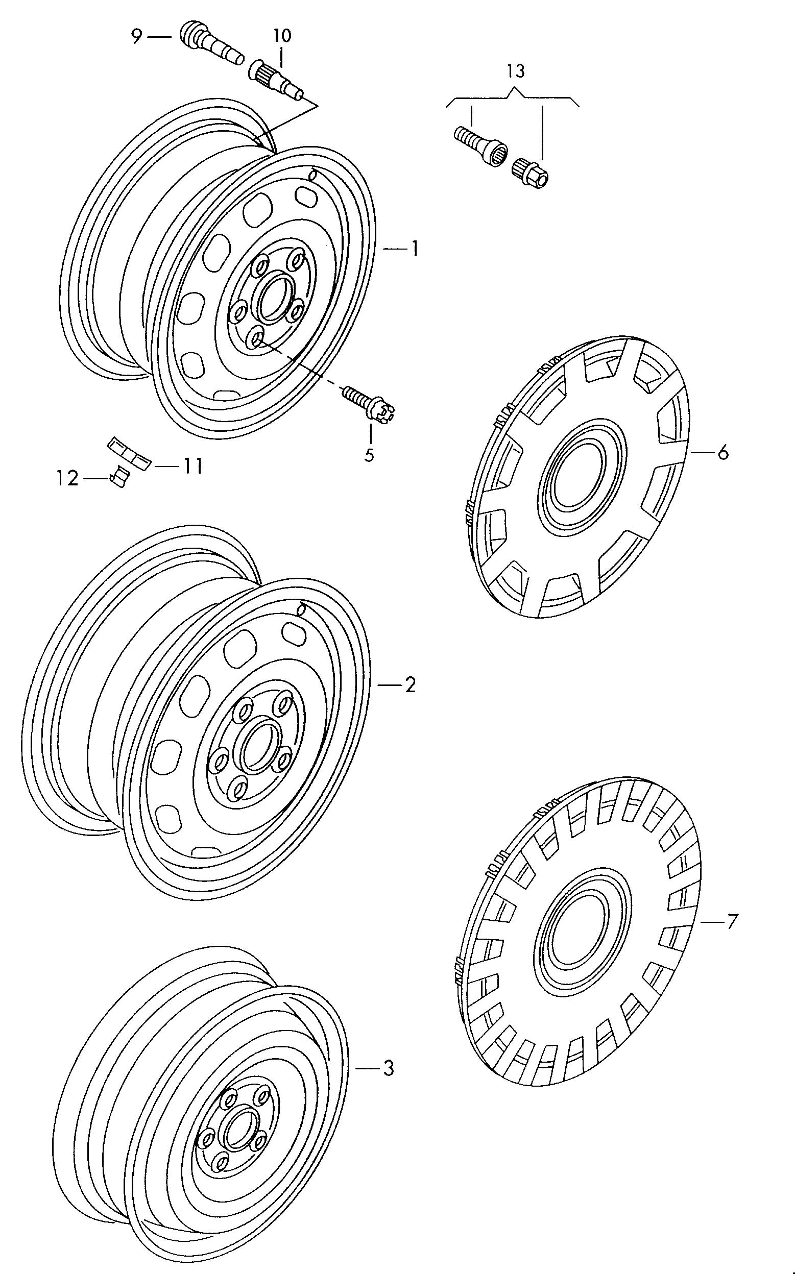 2006 Volkswagen Chrome for wheel disc:. SILVER. Full