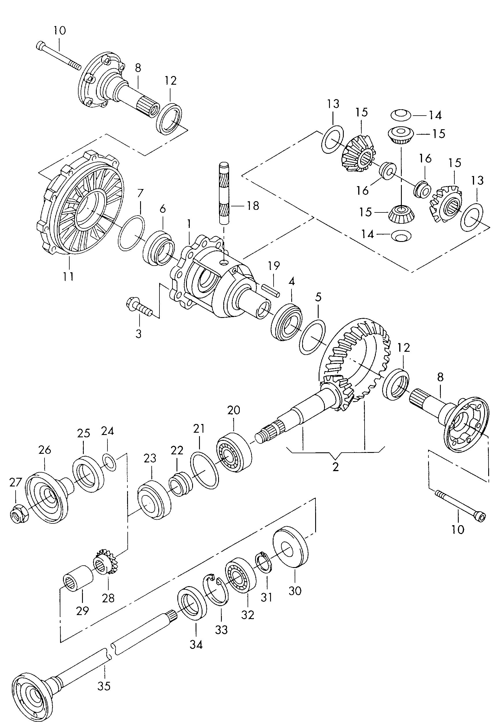Differential for 5 speed automatic transm. for 5 speed