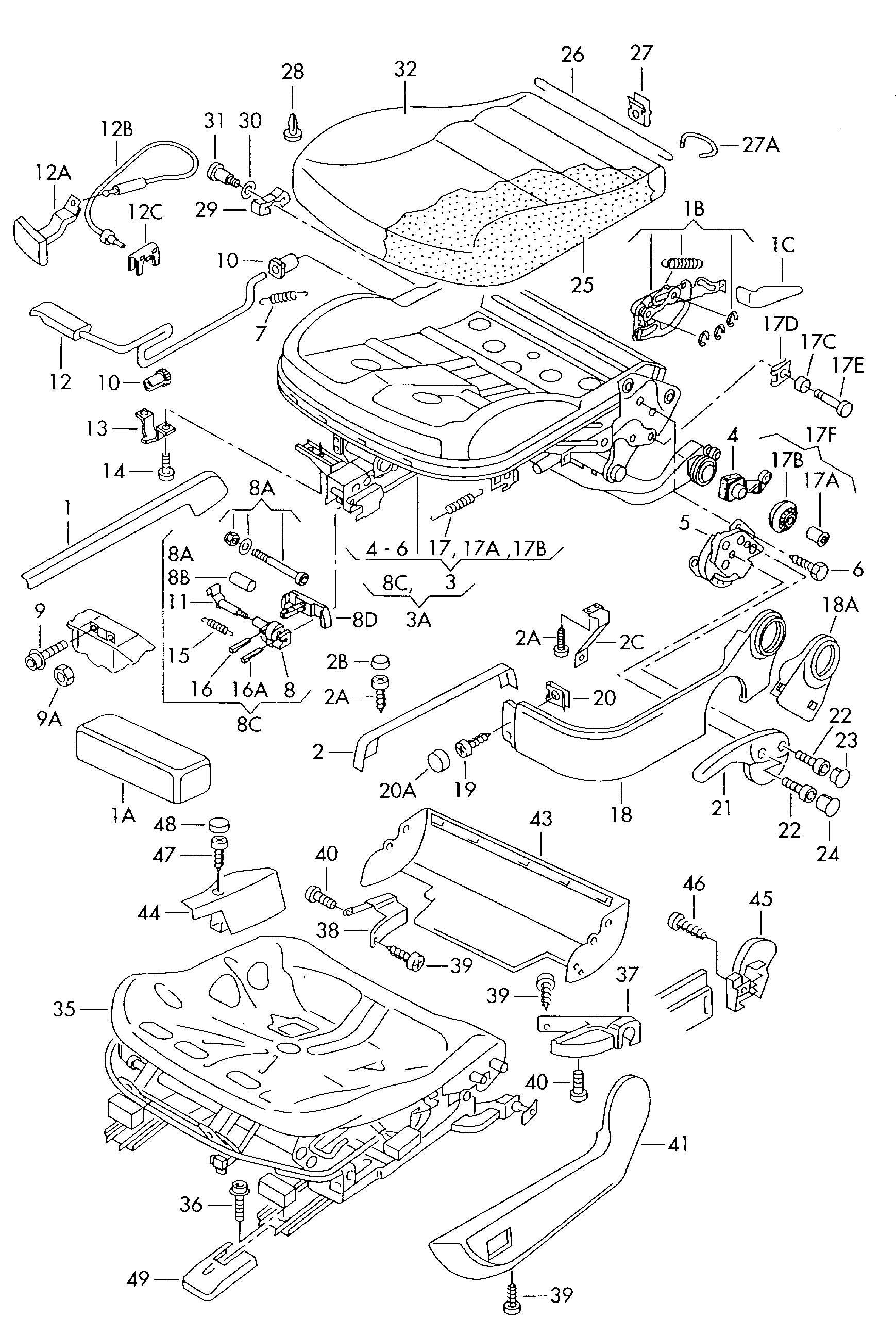 Volkswagen Passat Adjuster (height adjustment). SEAT