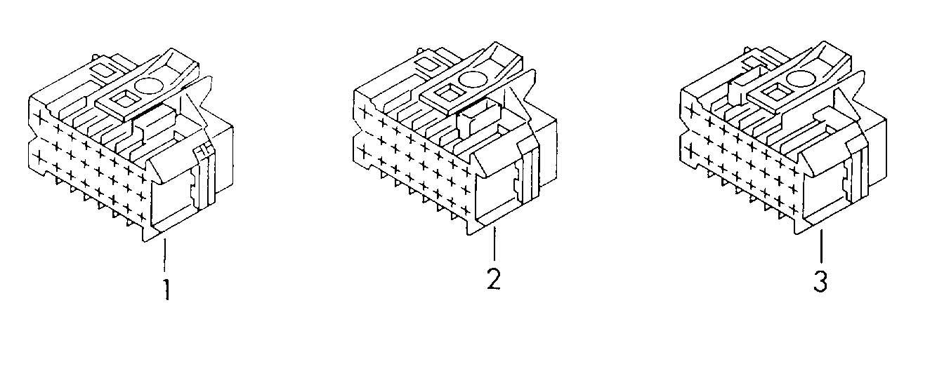 Volkswagen Touareg Power module flat contact housing with