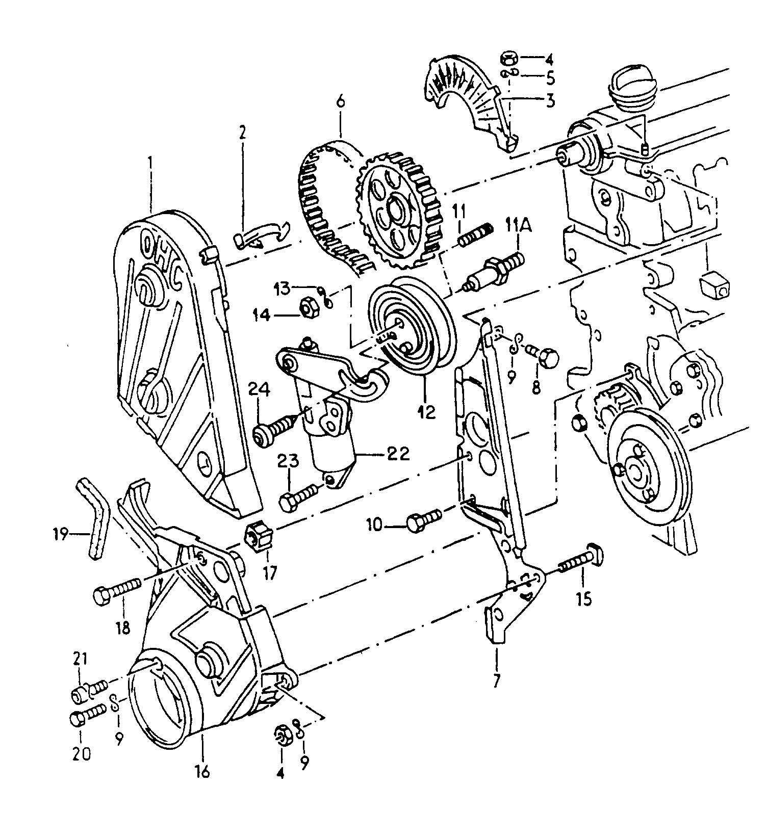Volkswagen Cabrio Cabriolet Belt Tensioner Roller