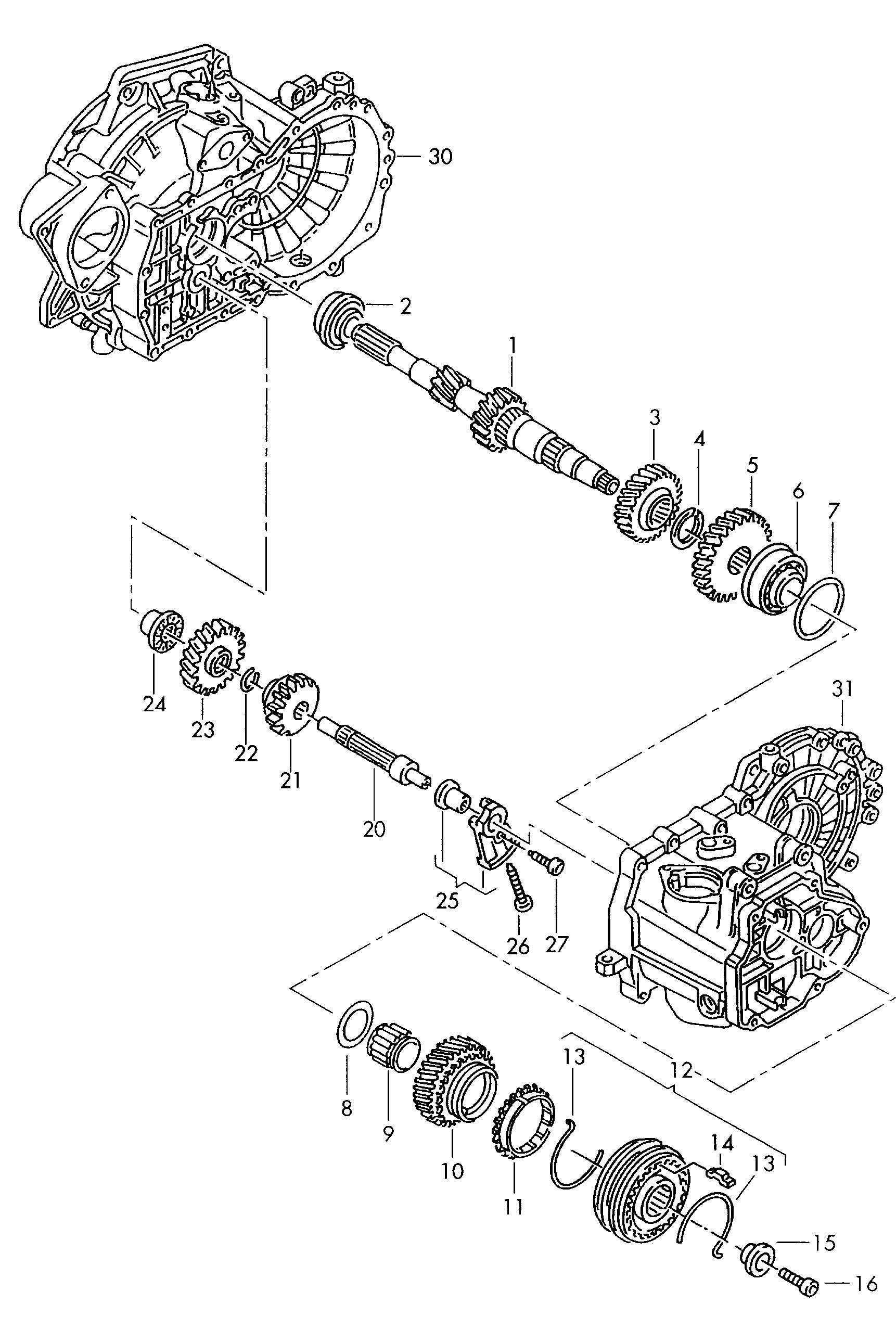 2005 Volkswagen Jetta Gear. EHC, EGF, DZC, EWW