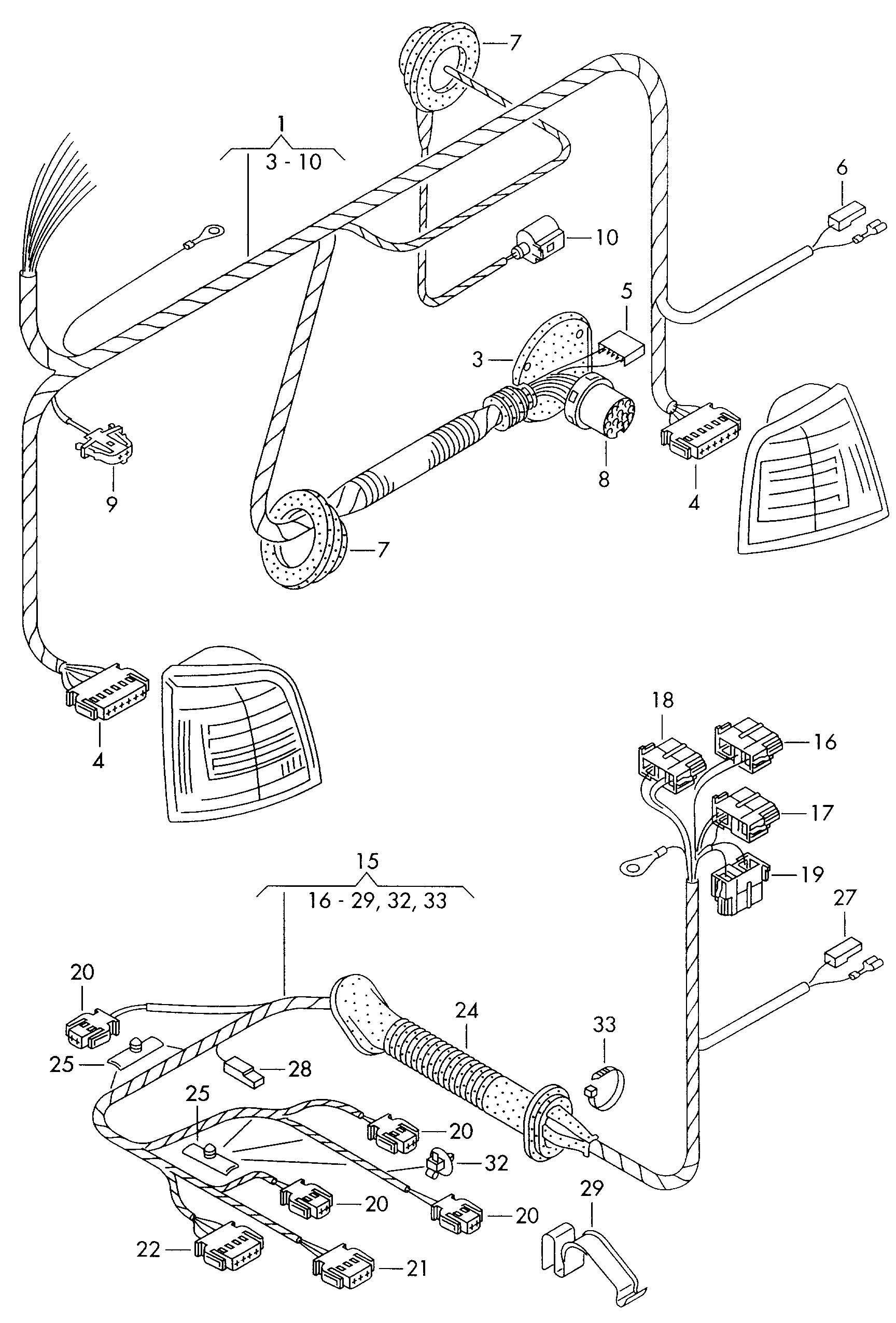 trailer wire harness cover