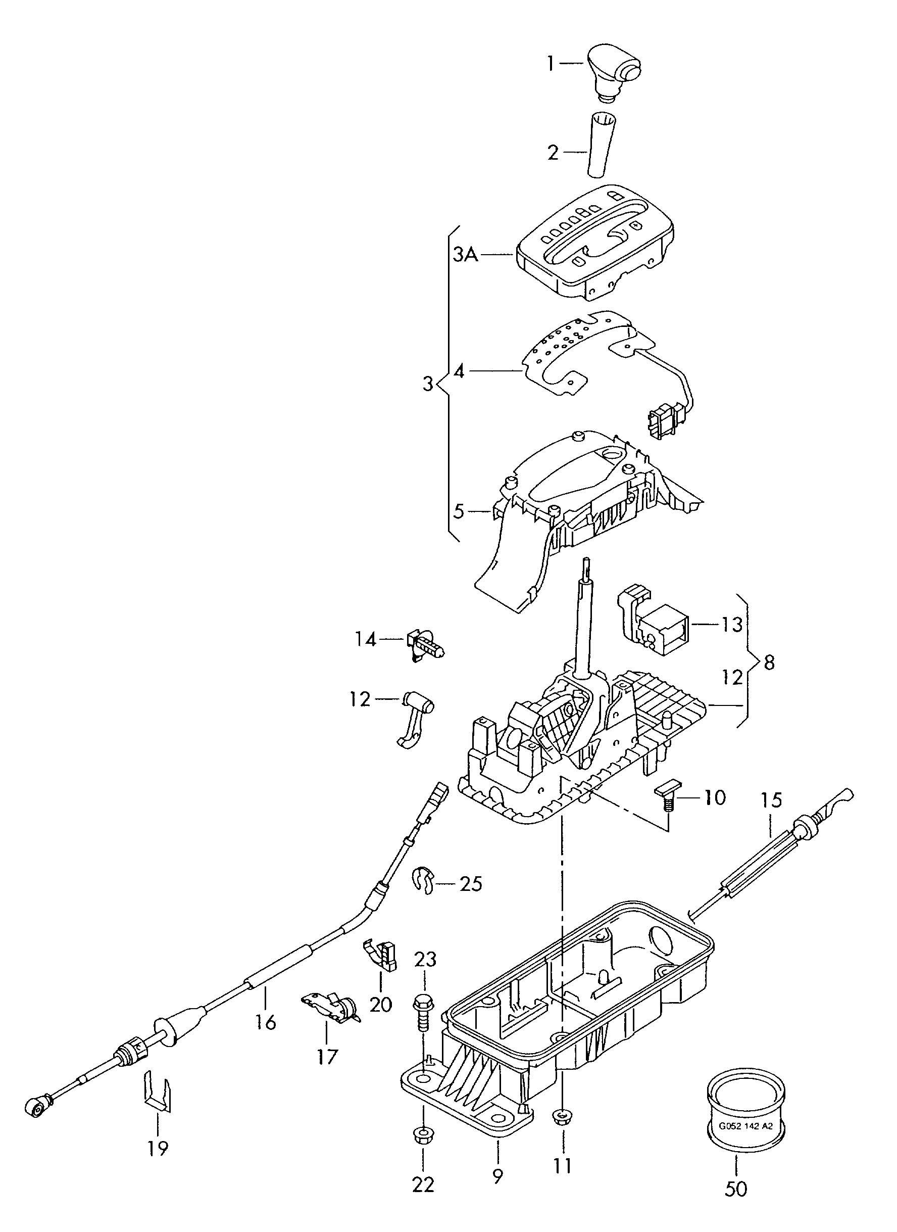 Volkswagen New Beetle Shift mechanism for vehicles with