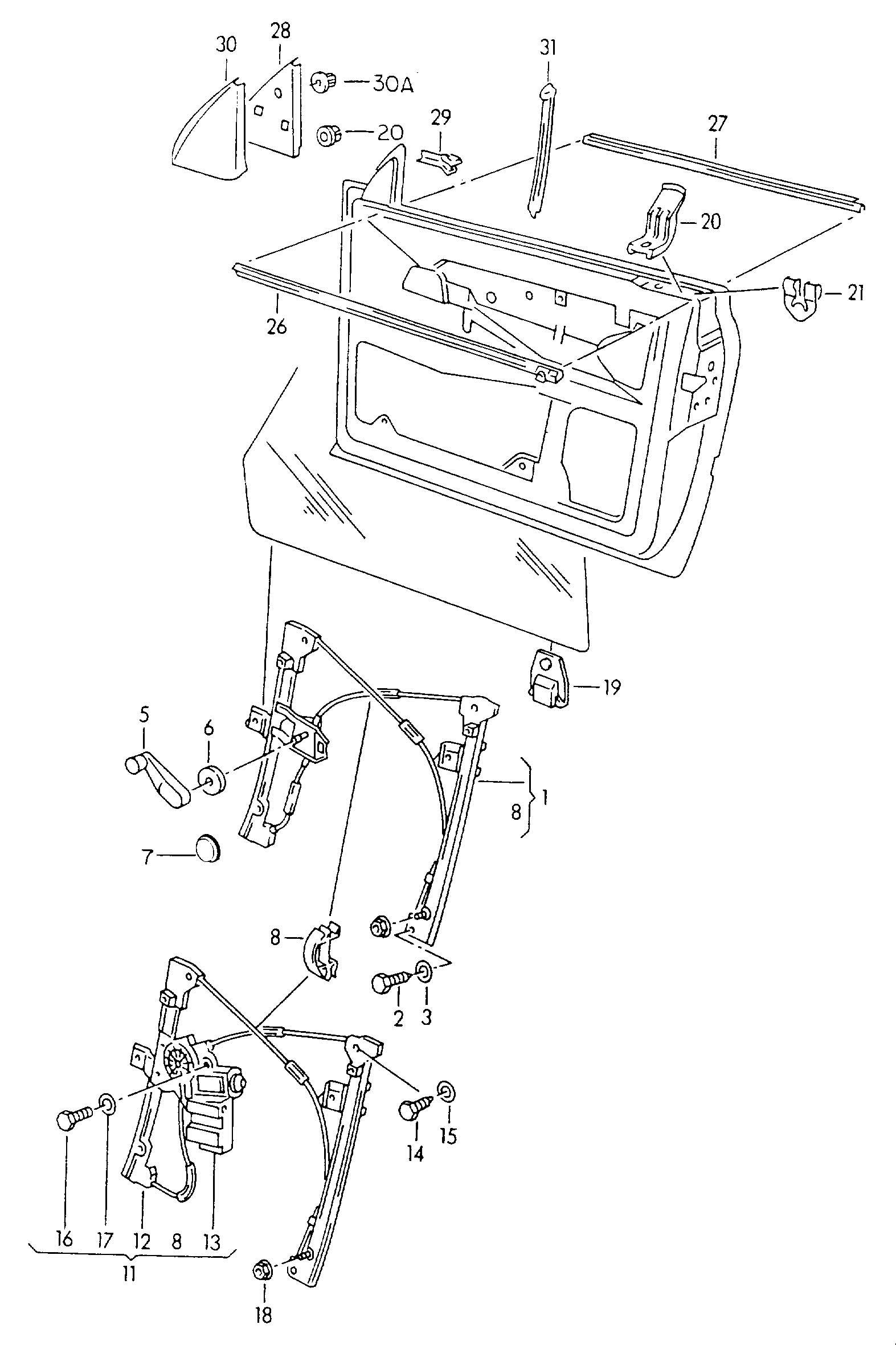 Volkswagen Cabrio/Cabriolet 2.0L Window lifter motor